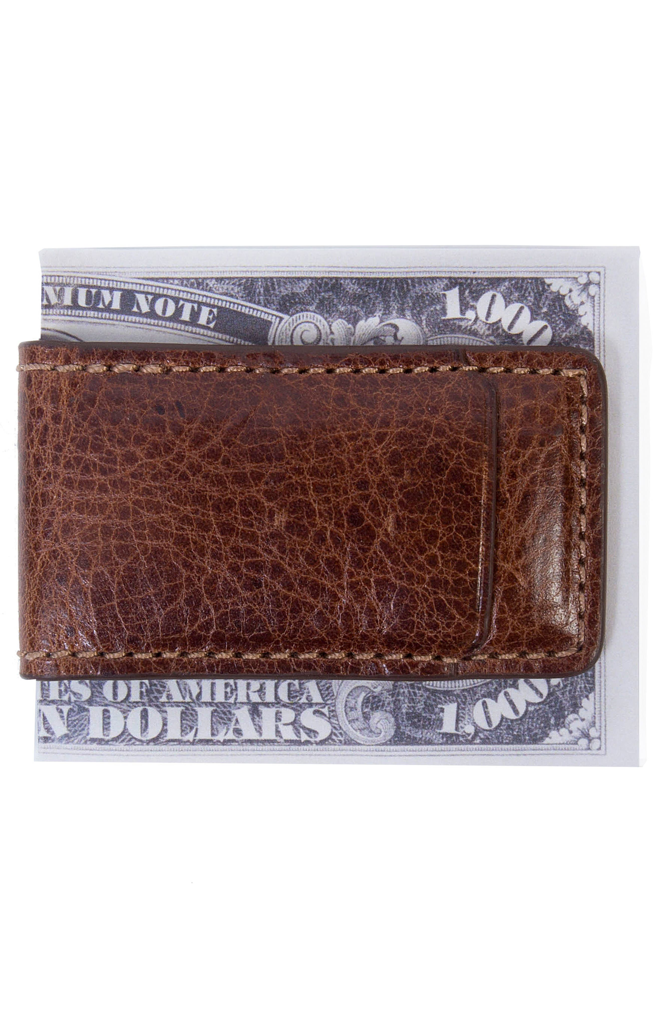 Caleb Magnetic Money Clip,                             Alternate thumbnail 2, color,                             Chestnut