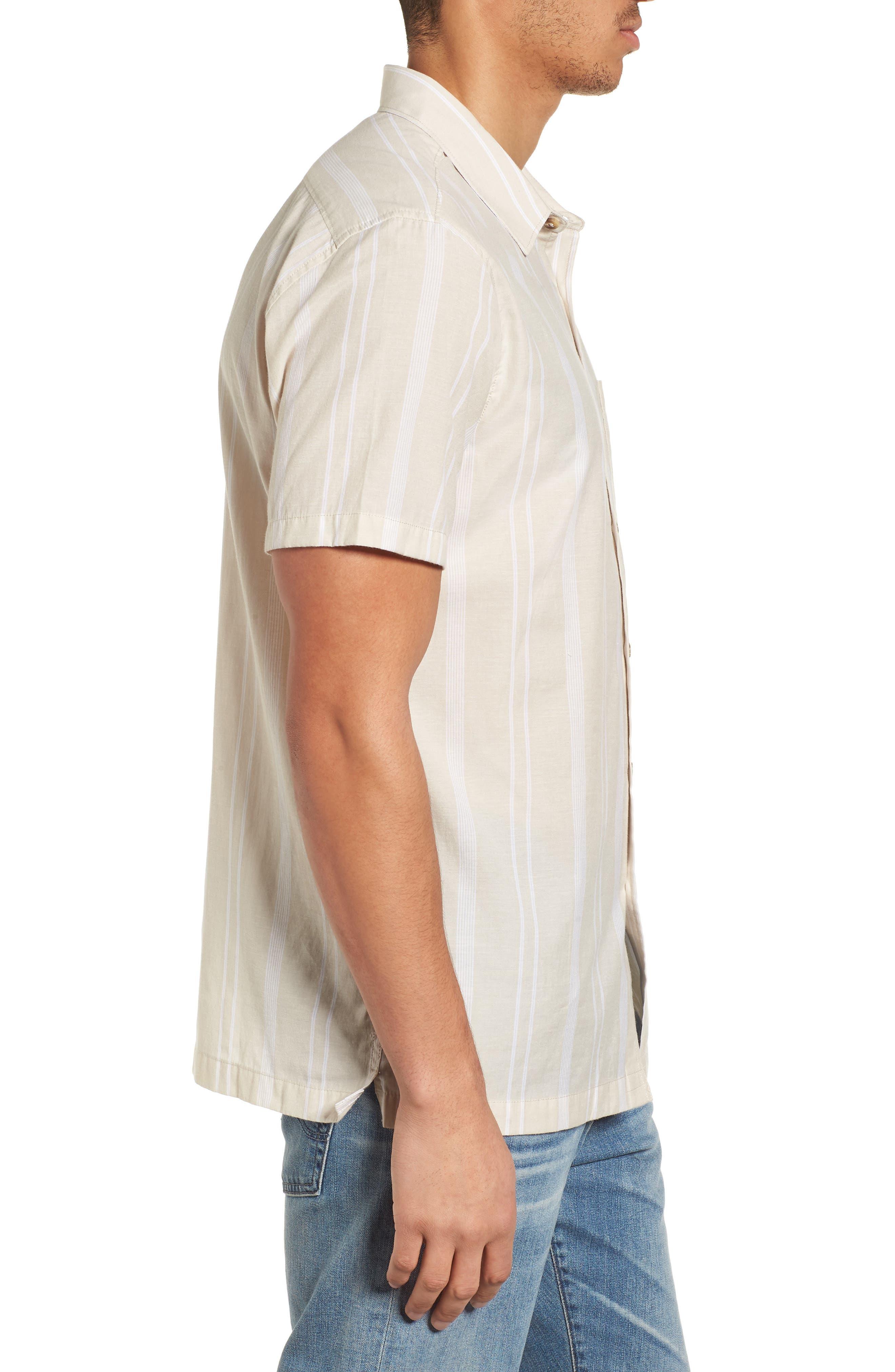 Donny Short Sleeve Shirt,                             Alternate thumbnail 4, color,                             Sand