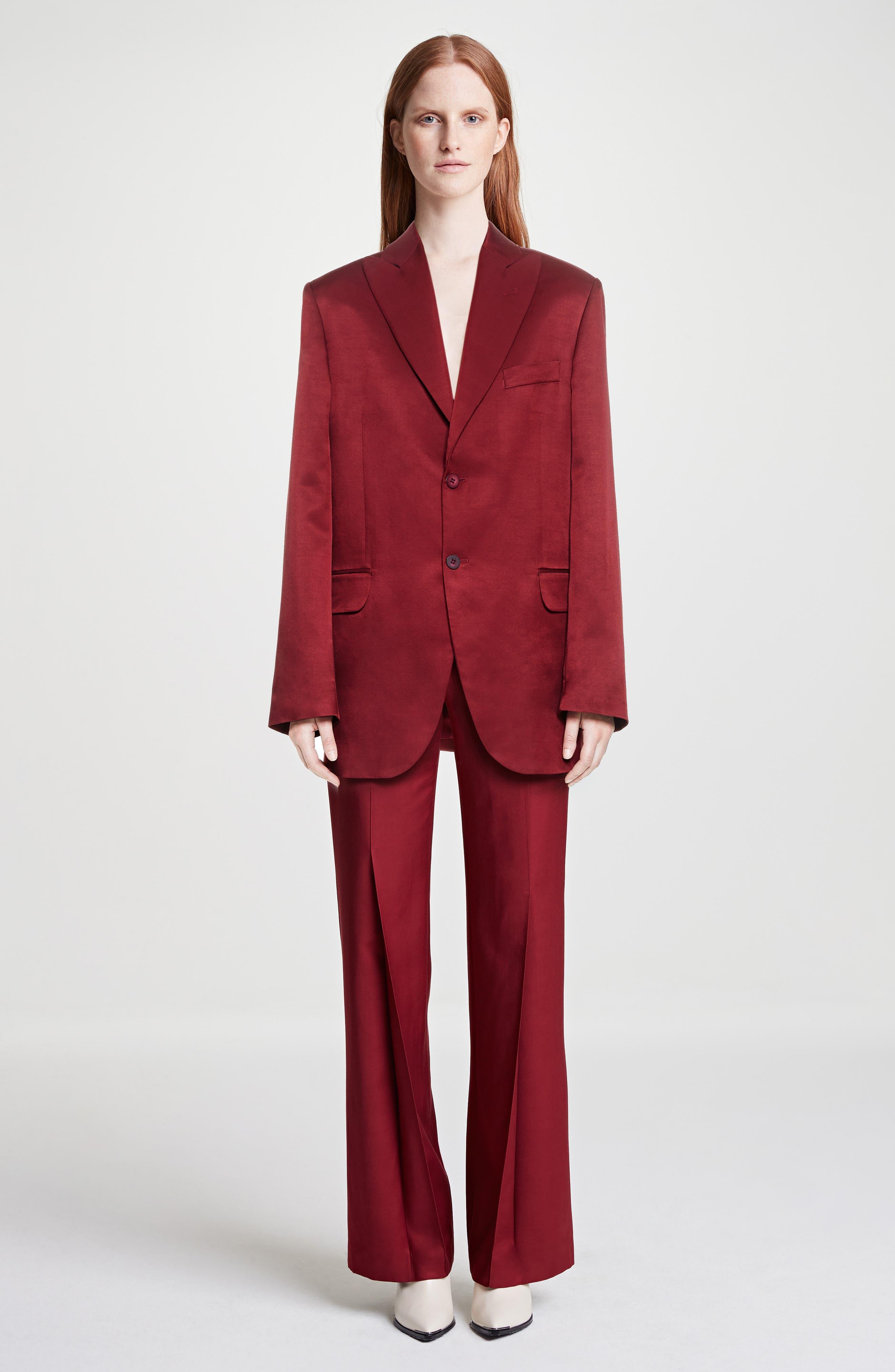 Jaria Suit Jacket,                             Alternate thumbnail 2, color,                             Crimson Red