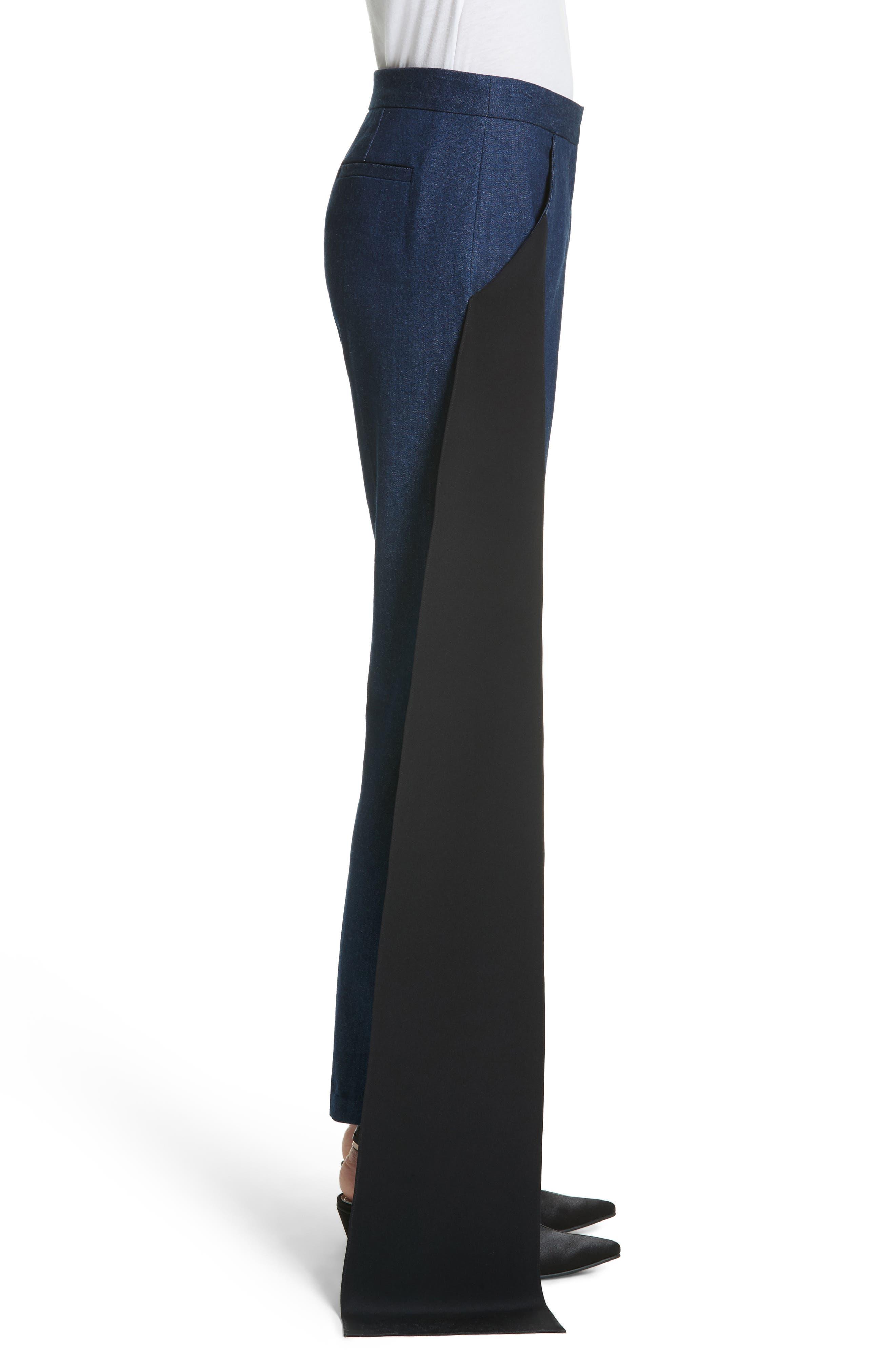 Mojave Side Panel Skinny Jeans,                             Alternate thumbnail 4, color,                             Dark Wash Denim