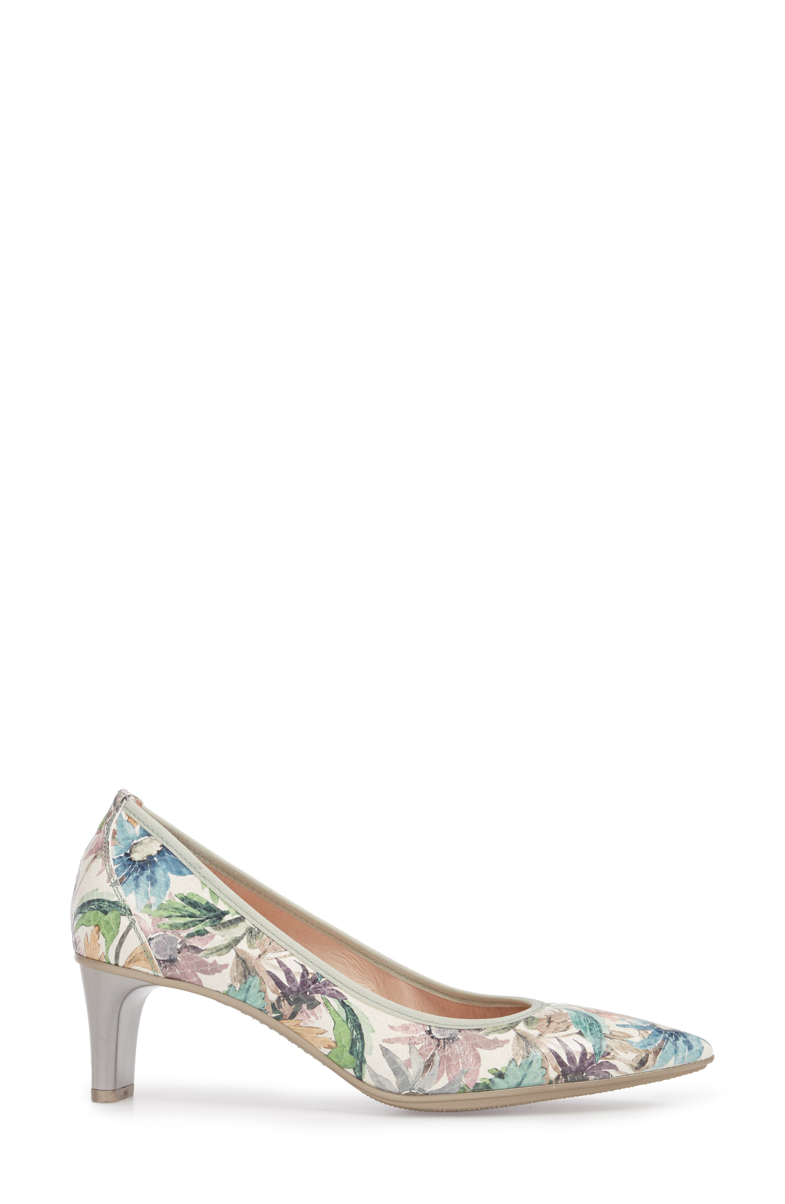 Melanie Pointy Toe Pump,                             Alternate thumbnail 3, color,                             Blossom Leather