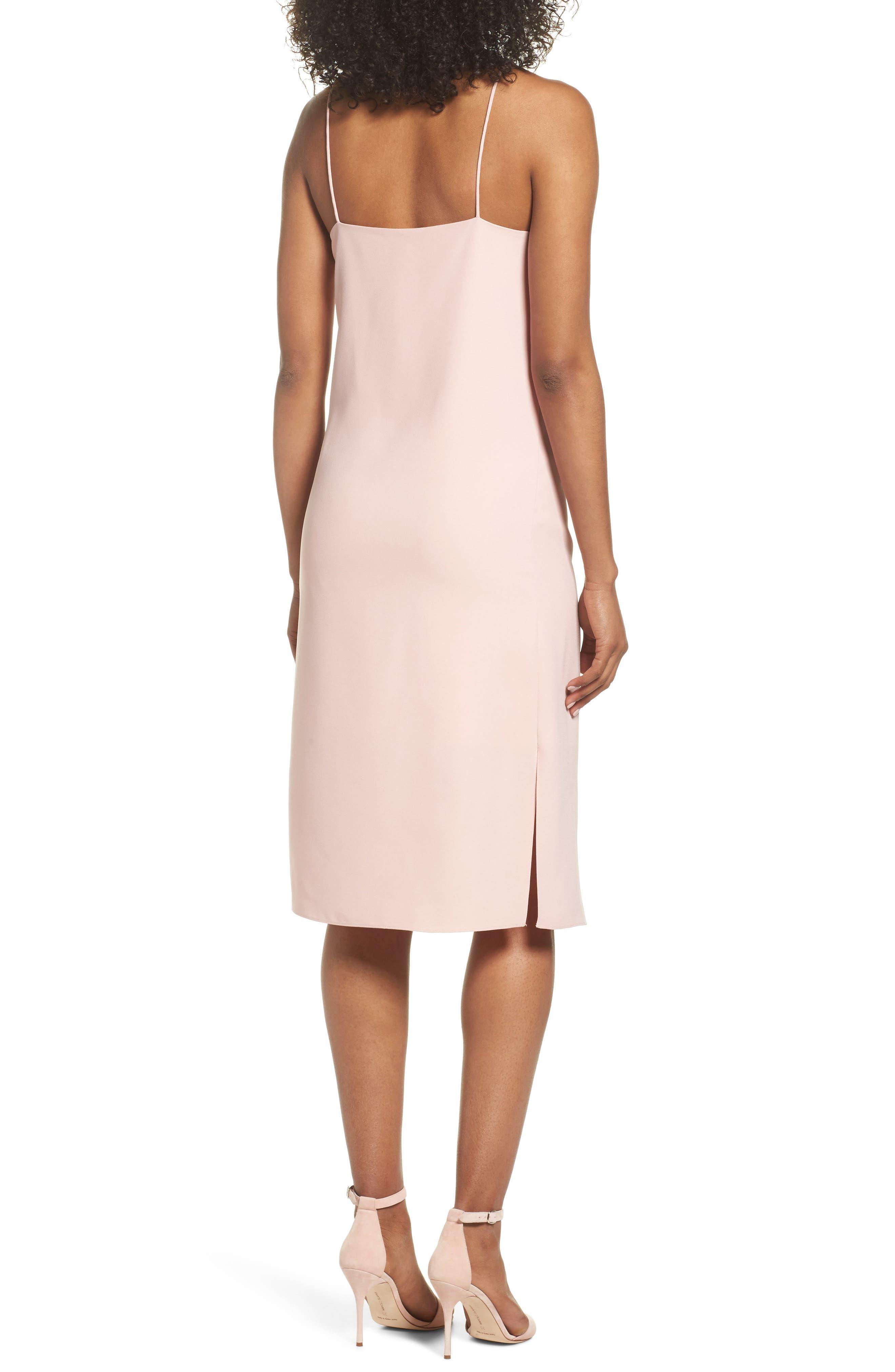 Sleeveless Midi Dress,                             Alternate thumbnail 2, color,                             Blush