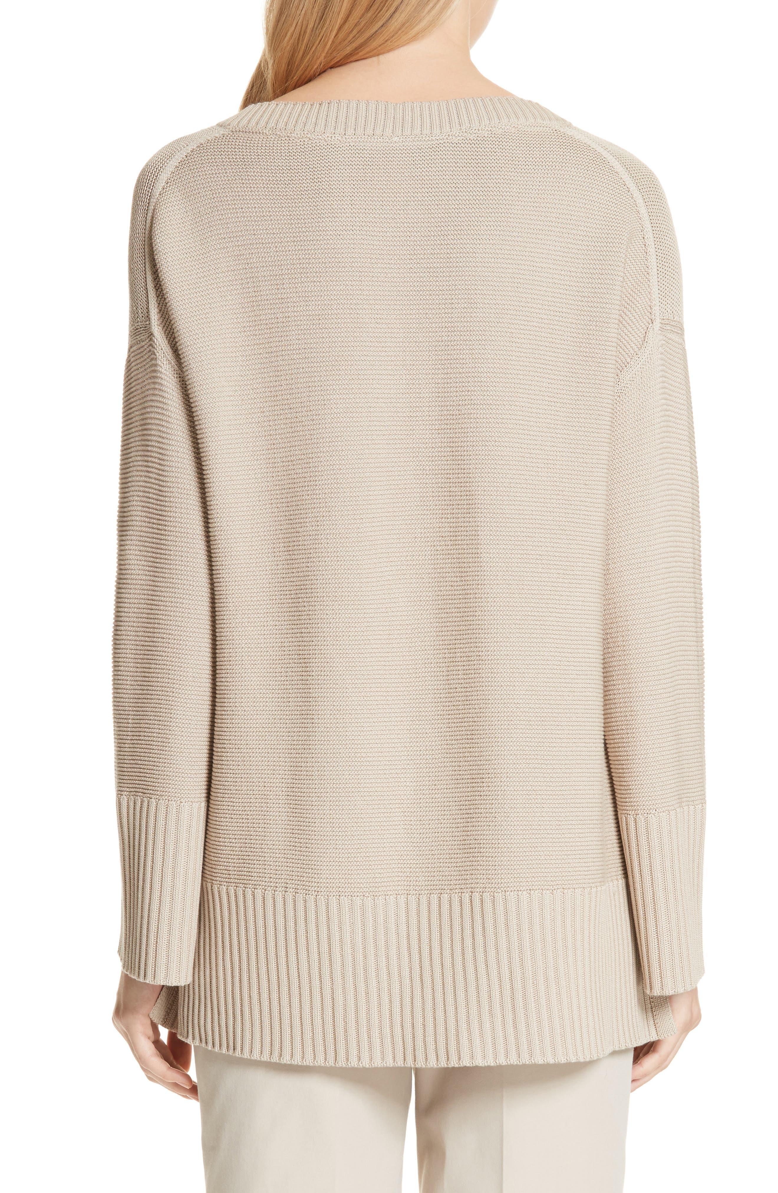 Cotton & Silk Sweater,                             Alternate thumbnail 2, color,                             Khaki