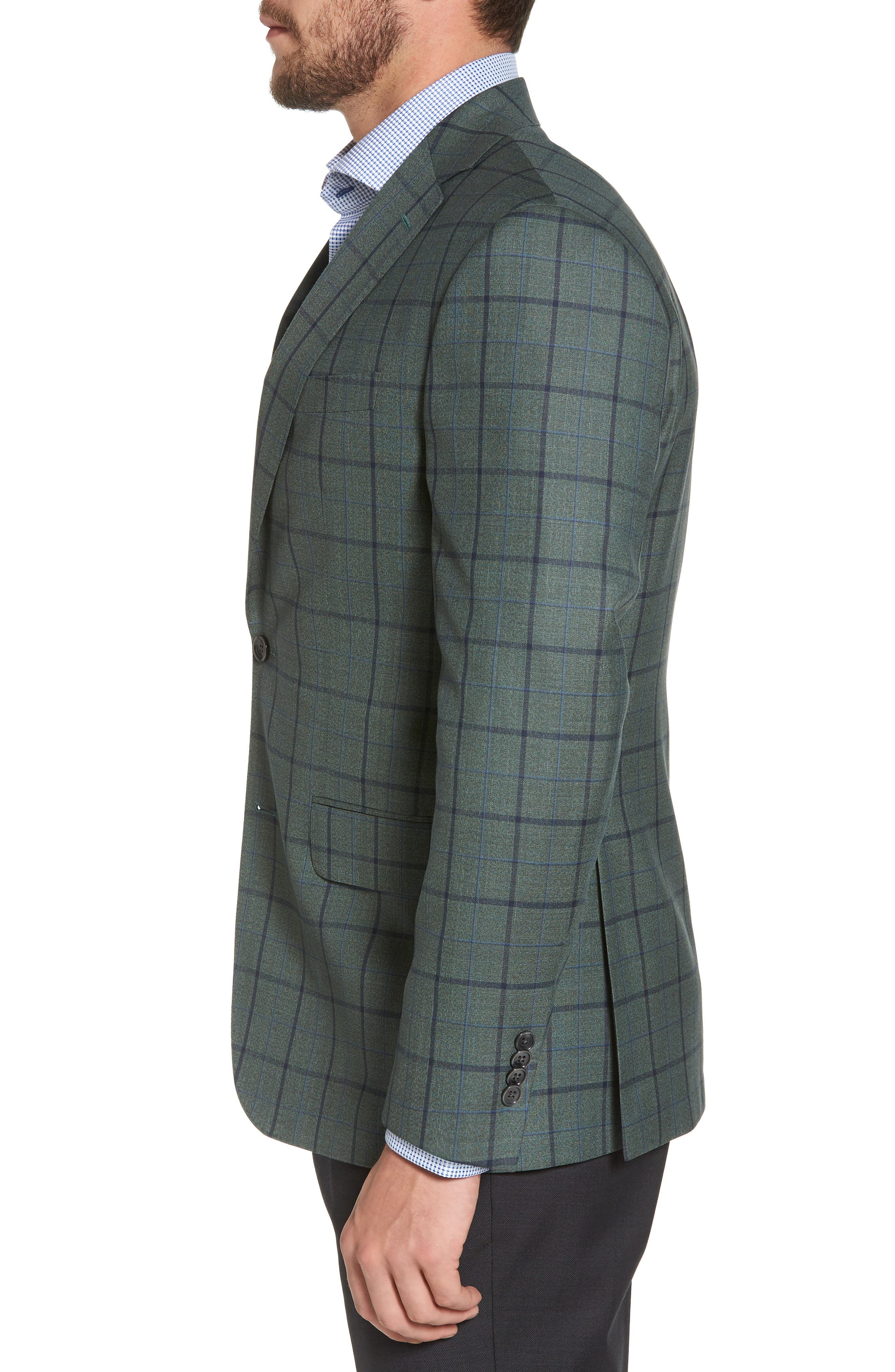 Connor Classic Fit Sport Coat,                             Alternate thumbnail 3, color,                             Green