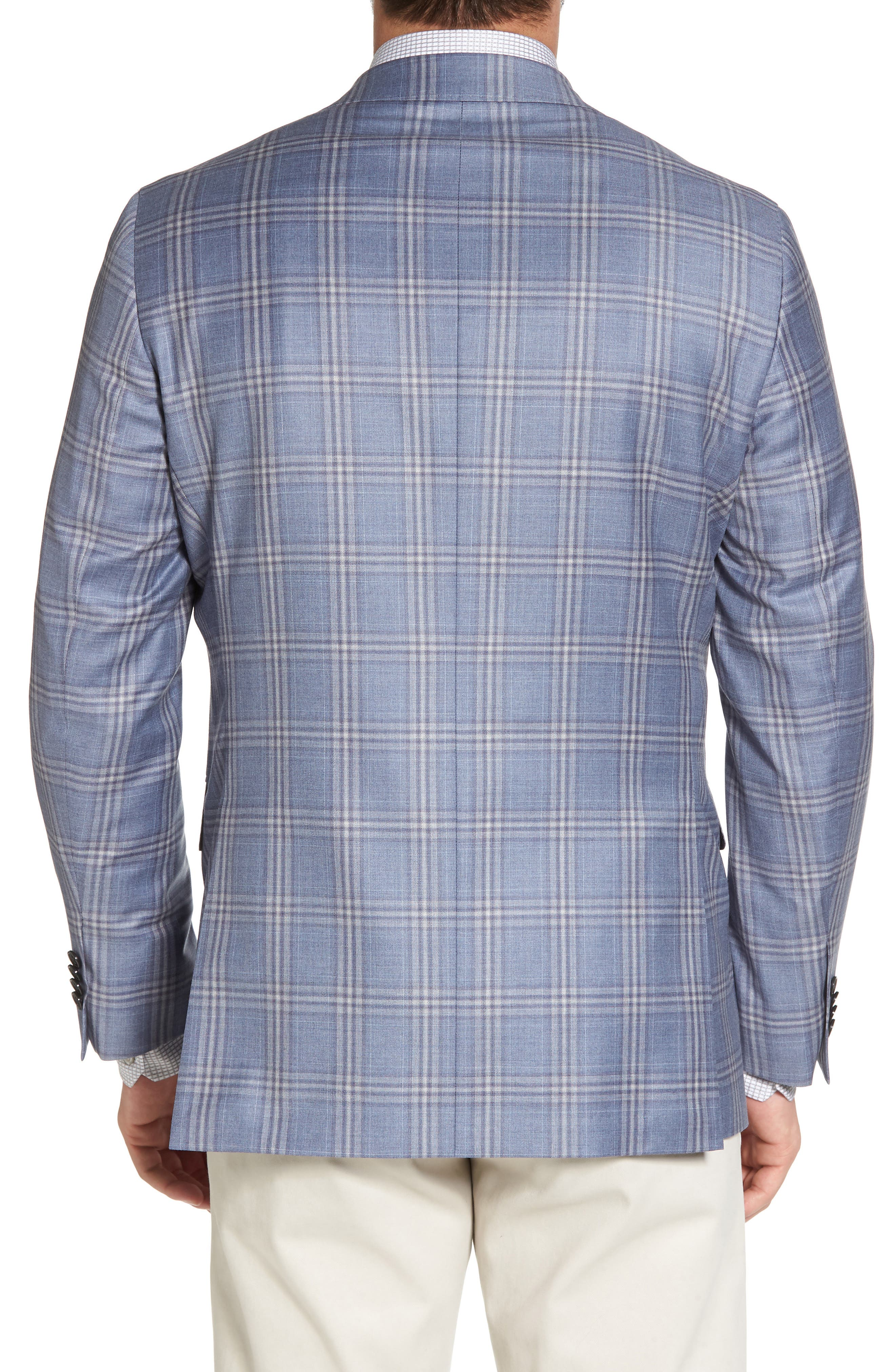 Alternate Image 2  - David Donahue Arnold Classic Fit Plaid Wool Sport Coat