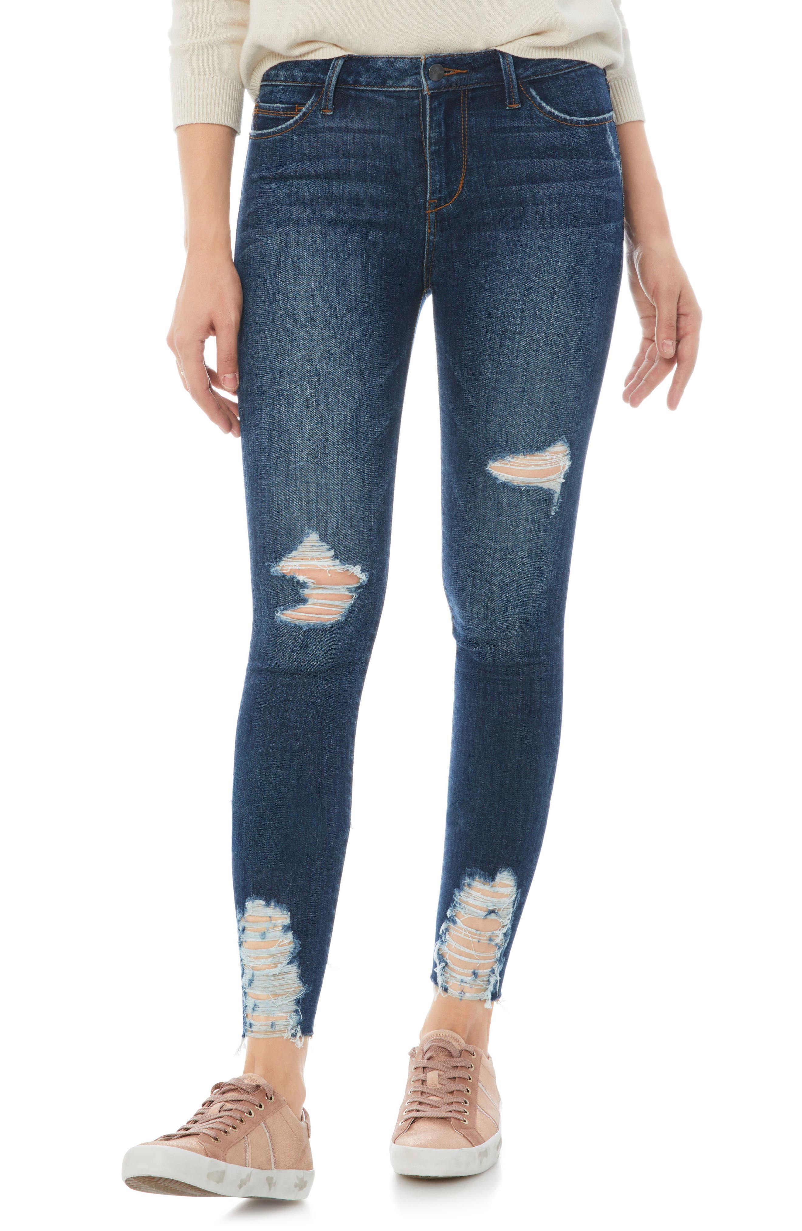 The Kitten Ripped Crop Jeans,                         Main,                         color, Margaux
