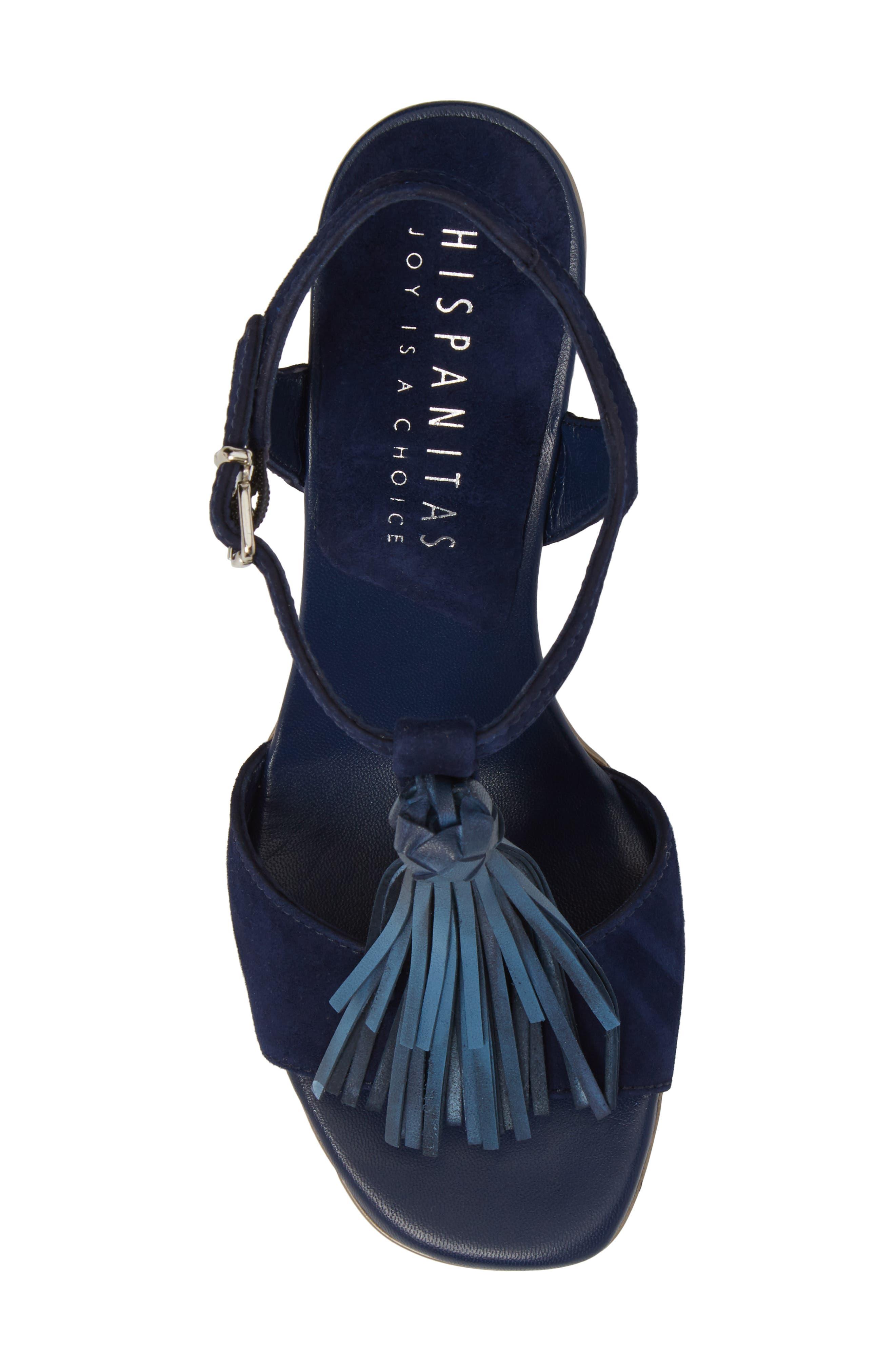 Schulyer T-Strap Sandal,                             Alternate thumbnail 5, color,                             Jeans Leather