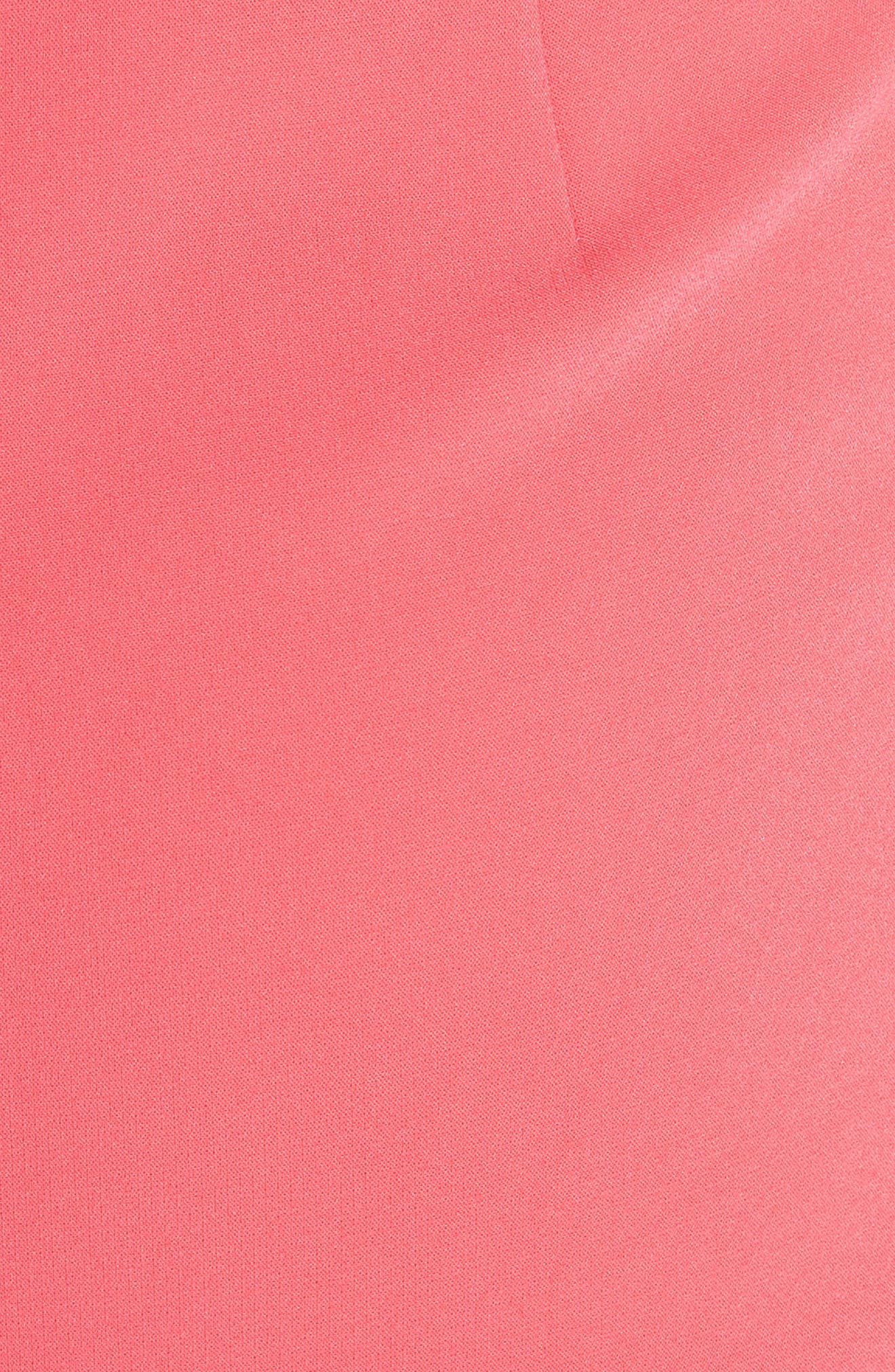 Andalasia Sleeveless Fit & Flare Dress,                             Alternate thumbnail 5, color,                             Watermelon