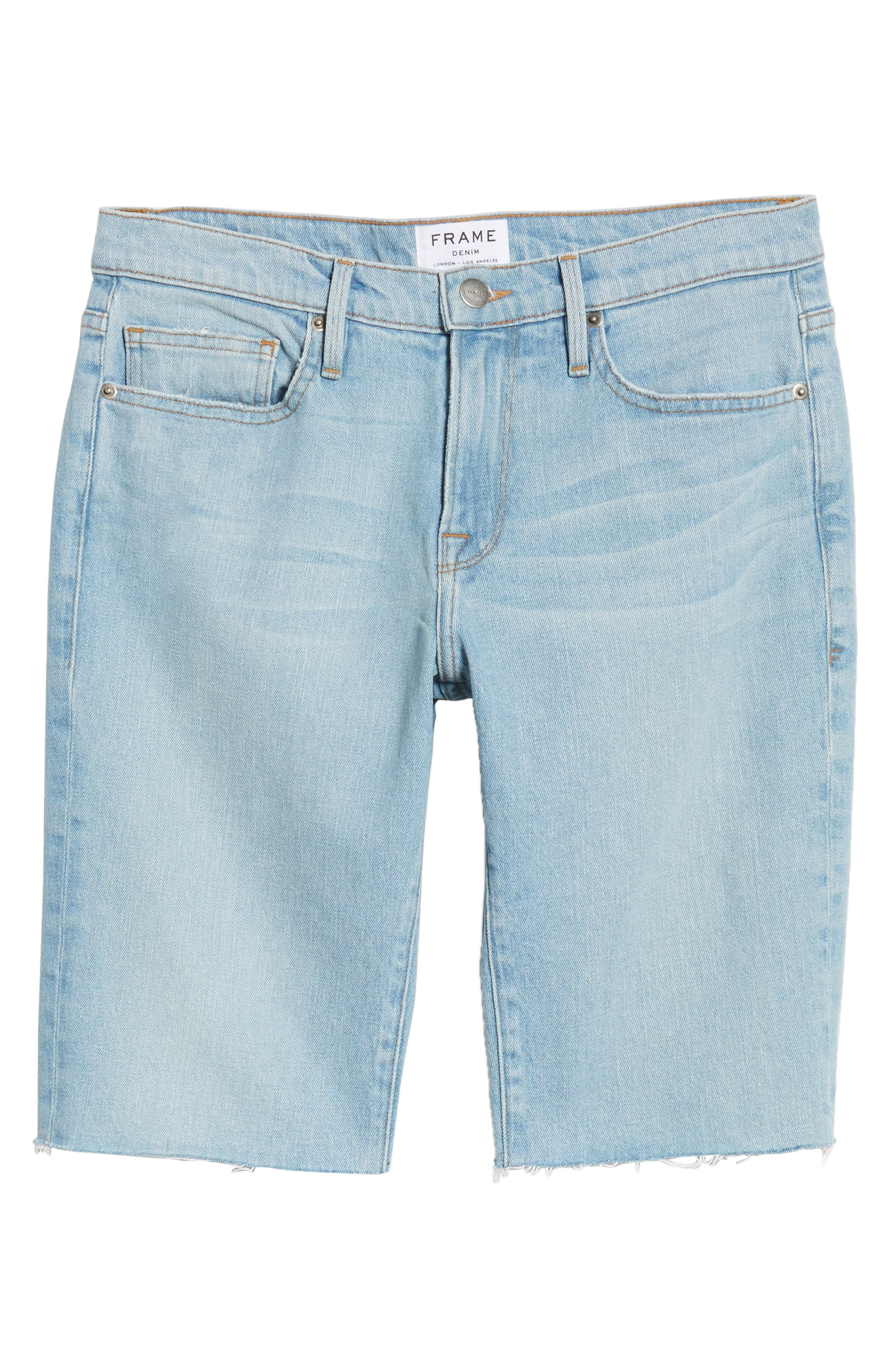 L'Homme Cutoff Denim Shorts,                             Alternate thumbnail 6, color,                             Crosby