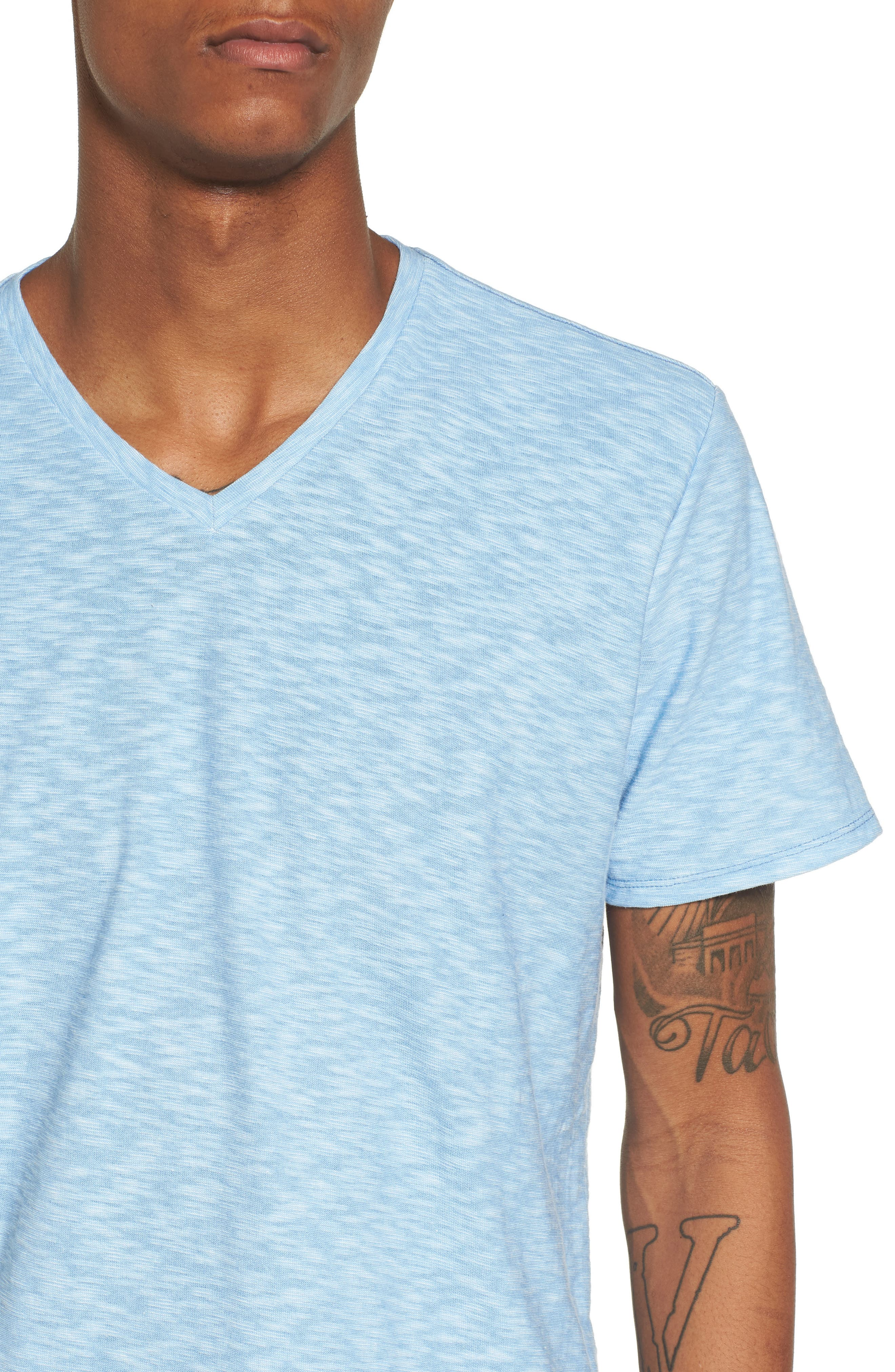 Alternate Image 4  - The Rail Slub Knit V-Neck T-Shirt