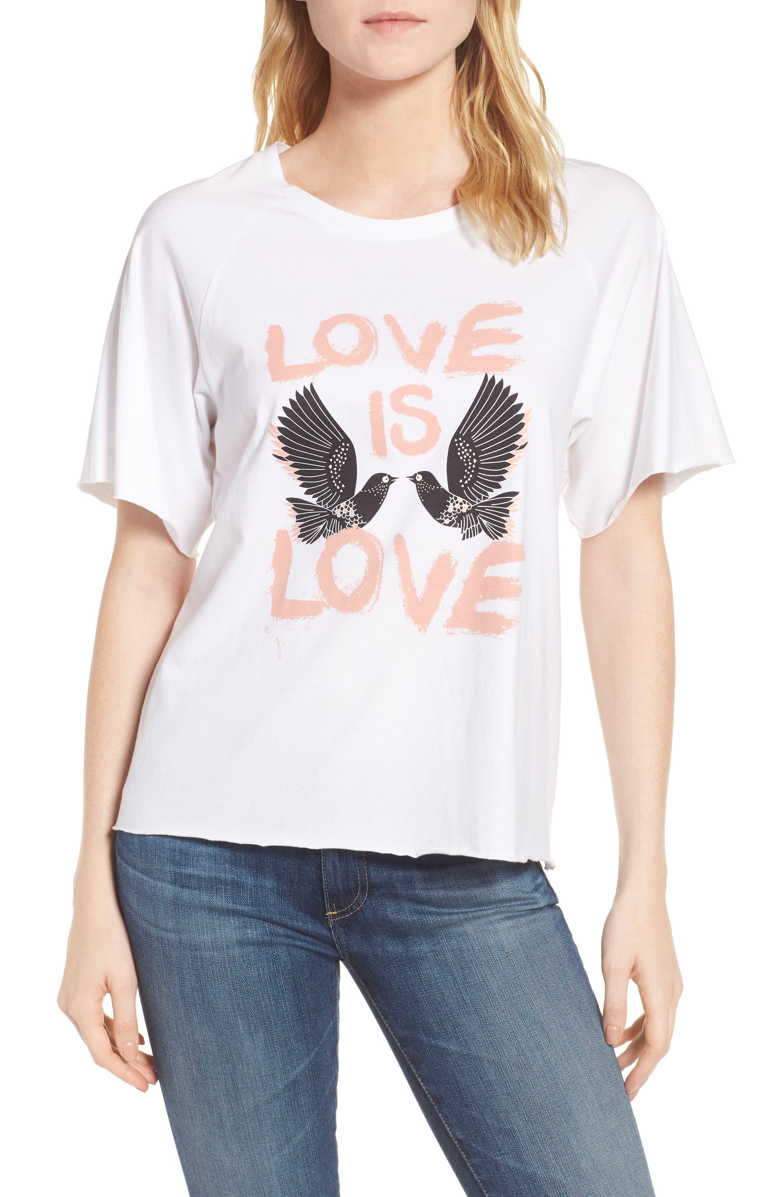 Love Birds Lombardo Tee,                         Main,                         color, White/ Multi