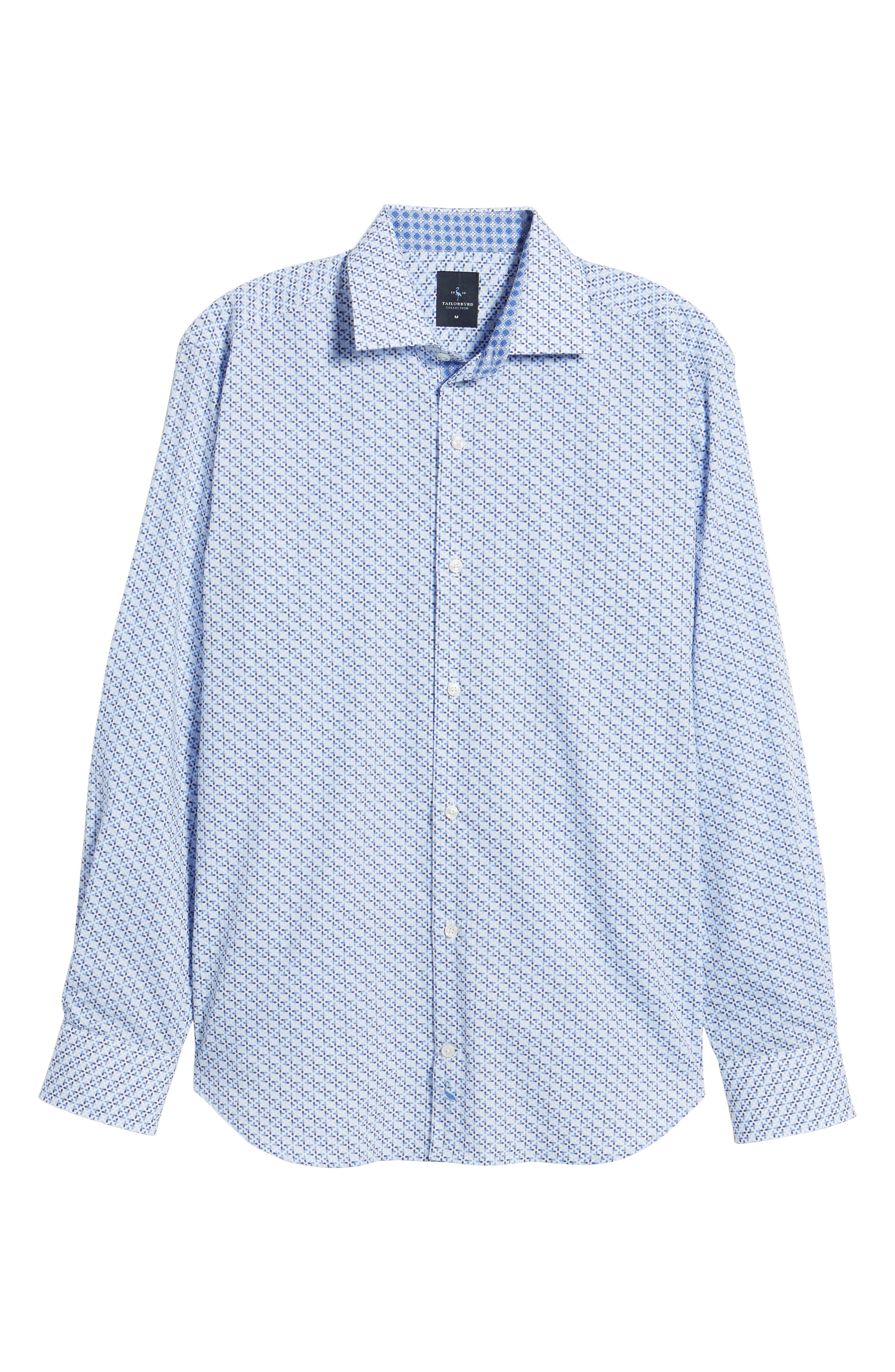 Alternate Image 6  - TailorByrd Simon Regular Fit Geo Print Sport Shirt