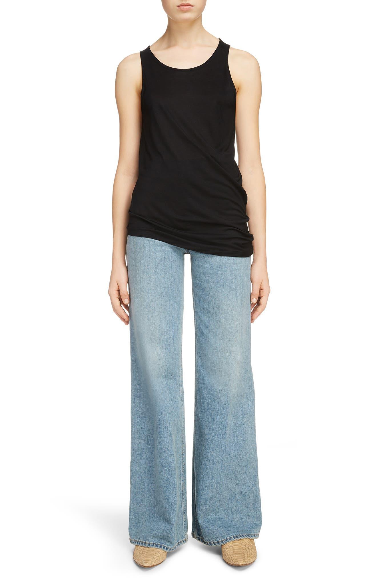 Tiffan Wide Leg Jeans,                             Alternate thumbnail 12, color,                             Blue Vintage