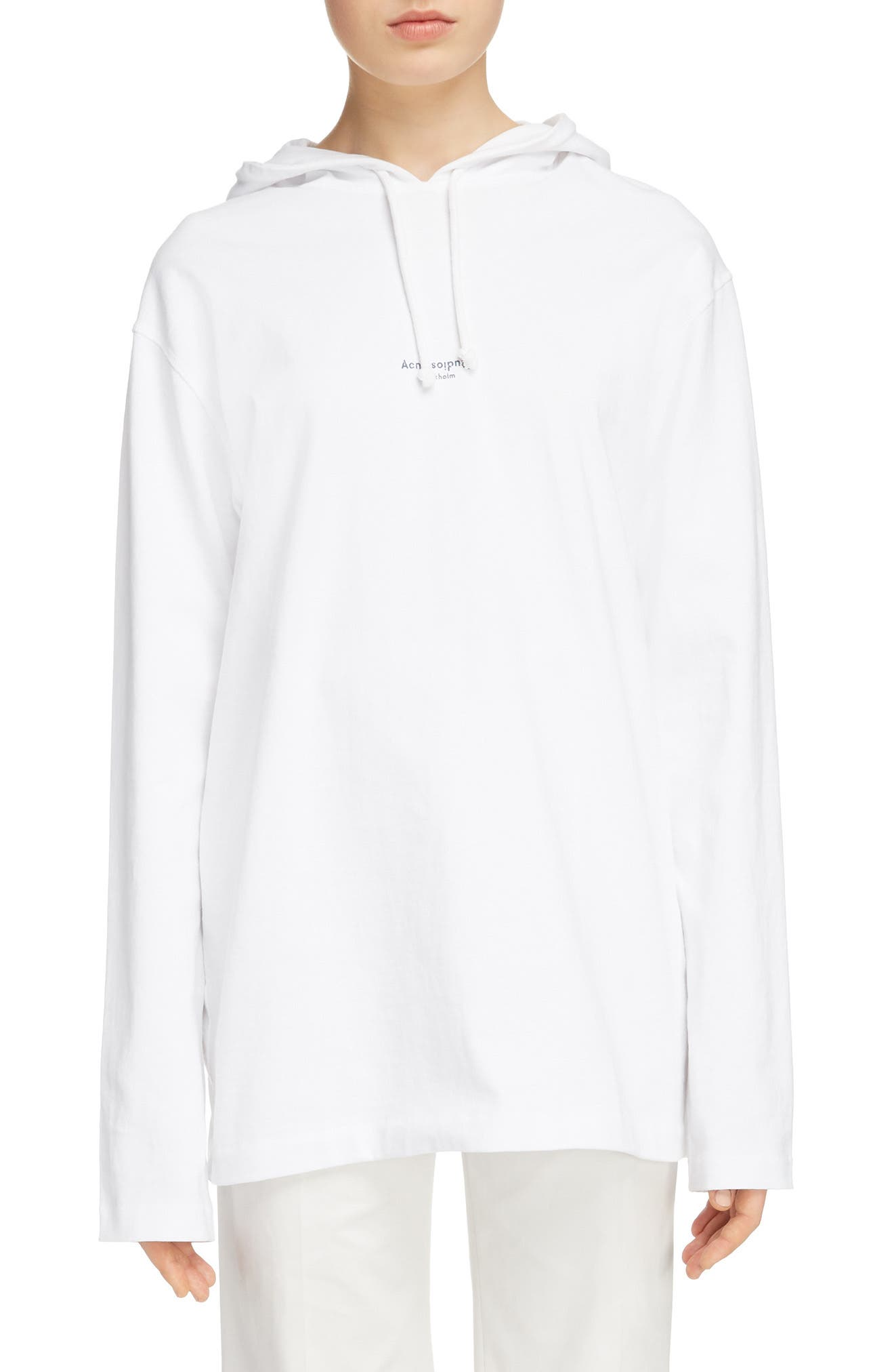Lilly Drawstring Hoodie,                             Main thumbnail 1, color,                             Optic White