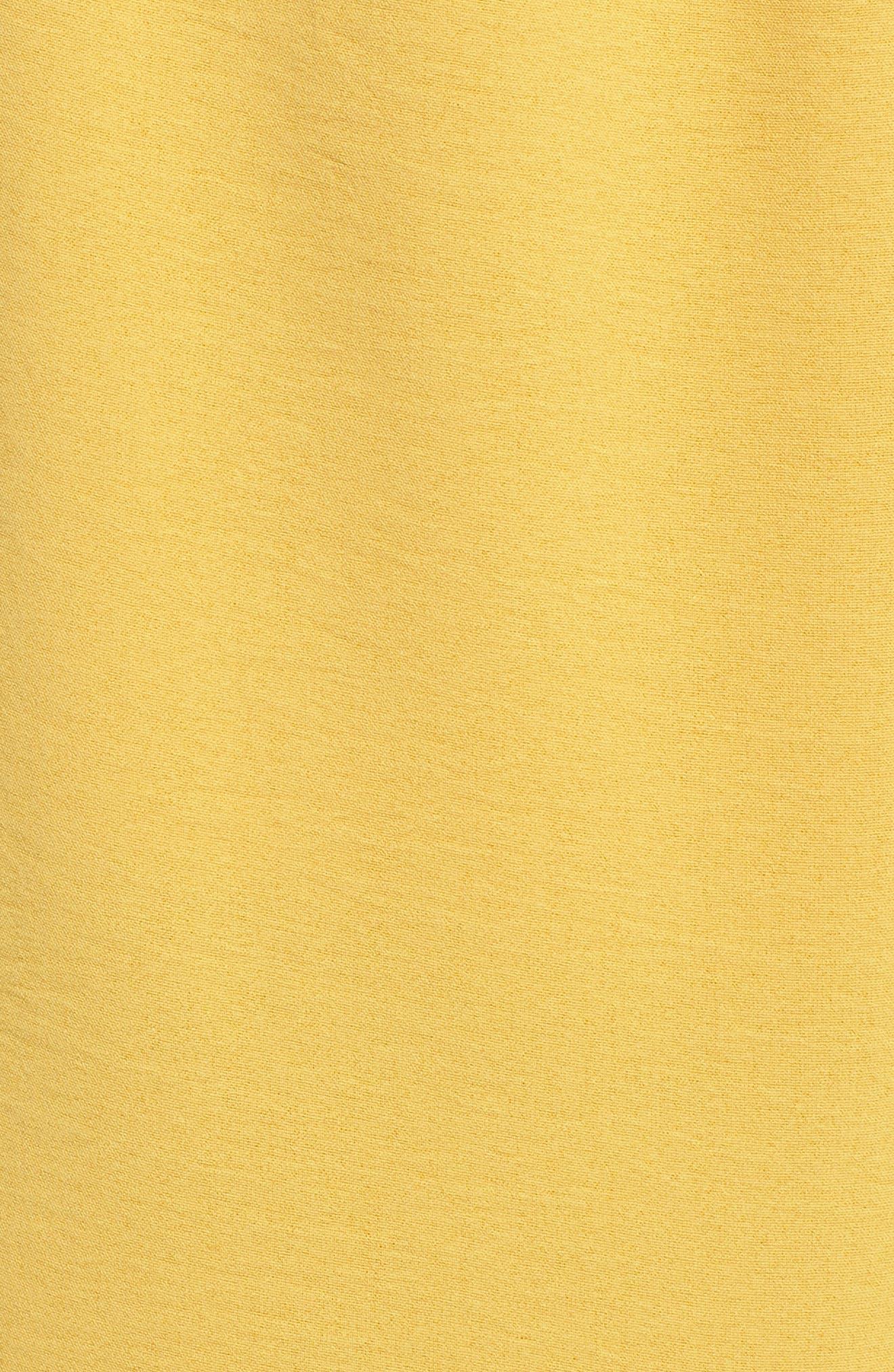 Chriselle x J.O.A. Pleat High Waist Crop Wide Leg Pants,                             Alternate thumbnail 7, color,                             Roman Gold