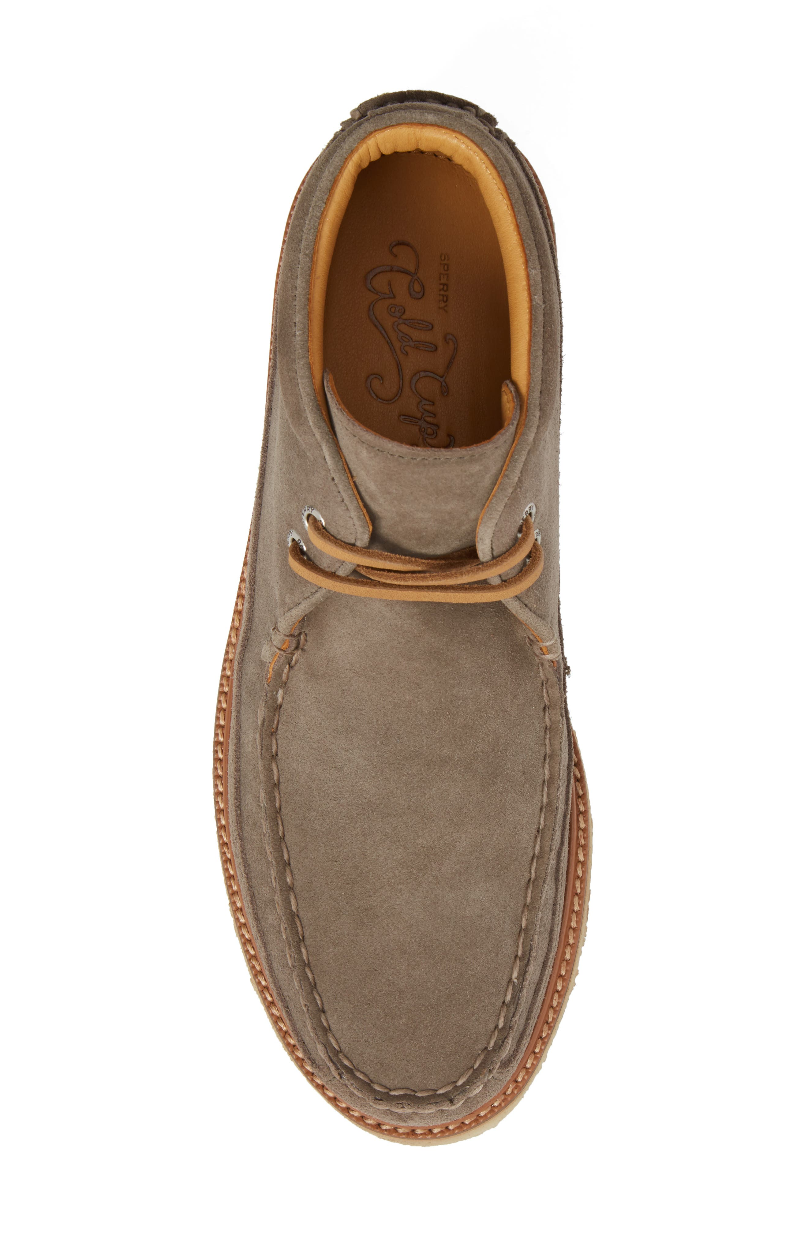 Gold Cup Chukka Boot,                             Alternate thumbnail 5, color,                             Taupe Grey Leather/ Suede