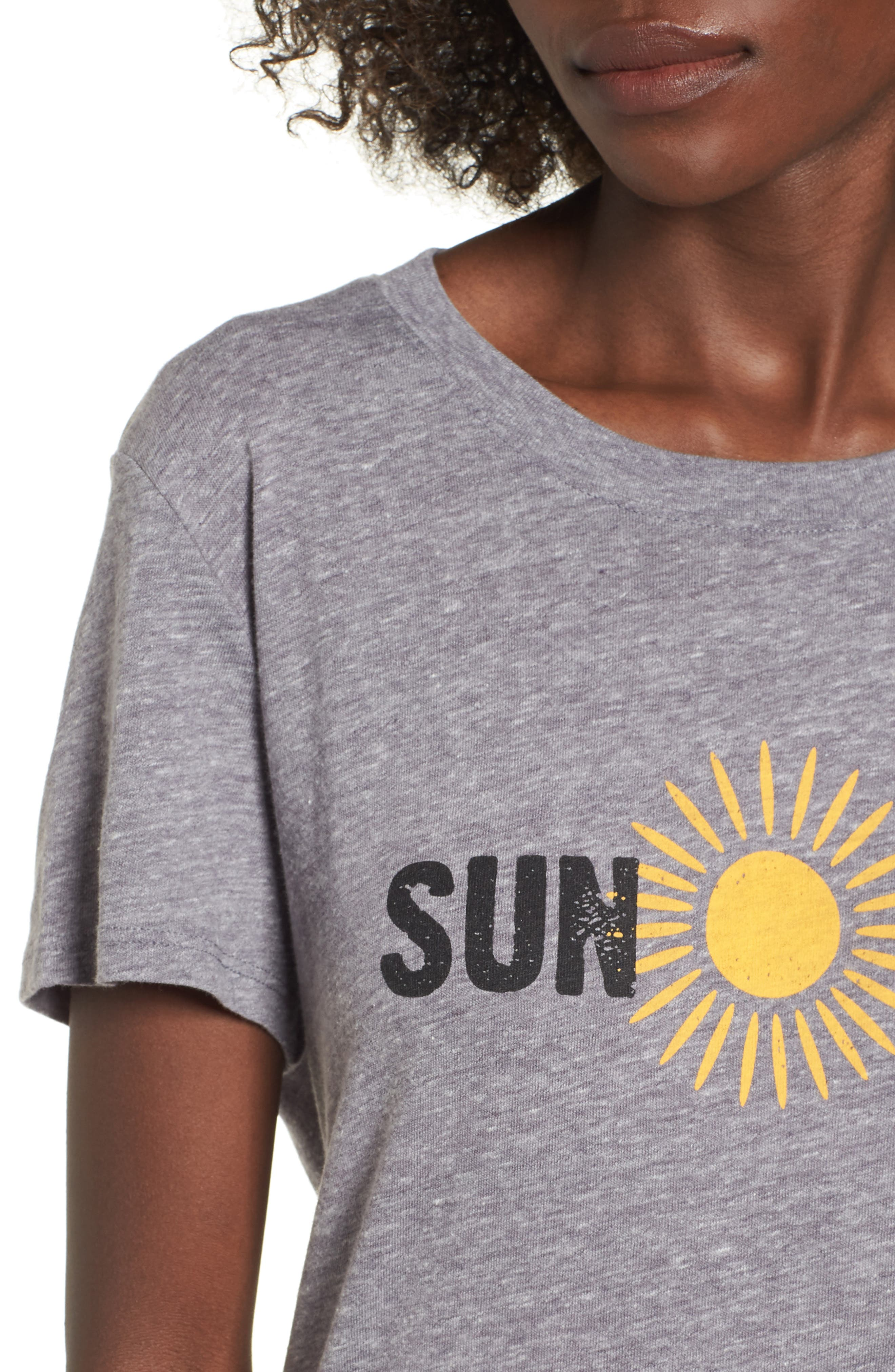 Sun Day Graphic Tee,                             Alternate thumbnail 4, color,                             Heather Grey