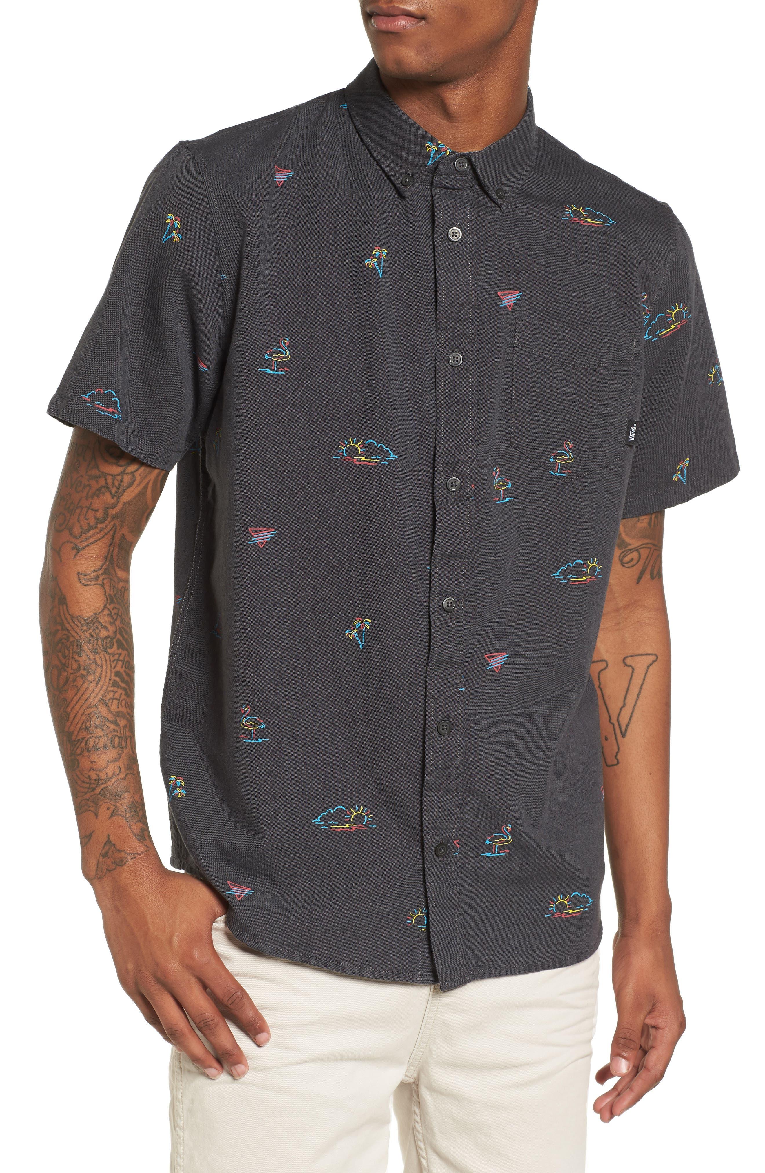 Houser Woven Shirt,                         Main,                         color, Black Road Trippin