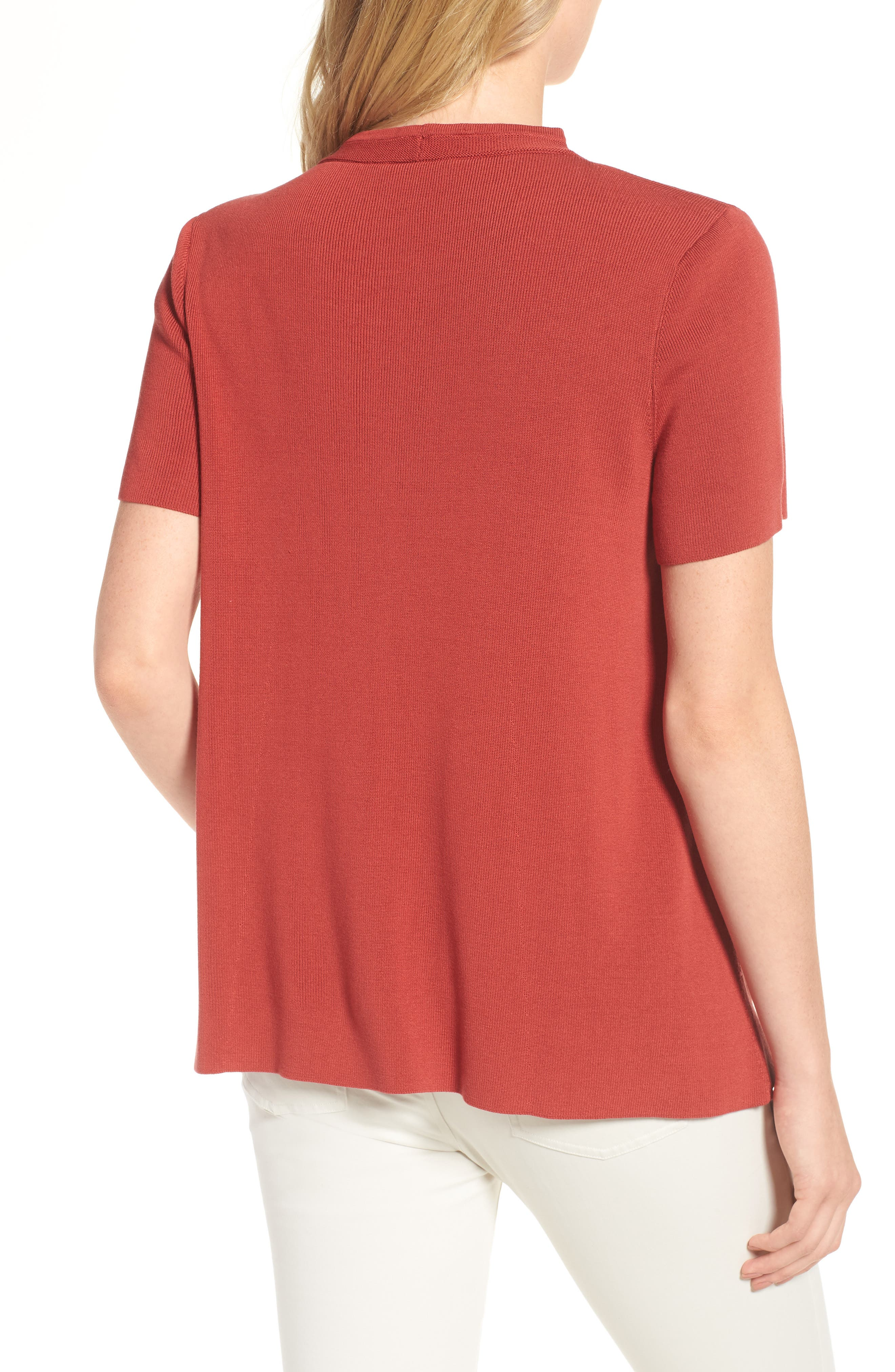 Tencel<sup>®</sup> Lyocell Knit Sweater,                             Alternate thumbnail 2, color,                             Coral Rose