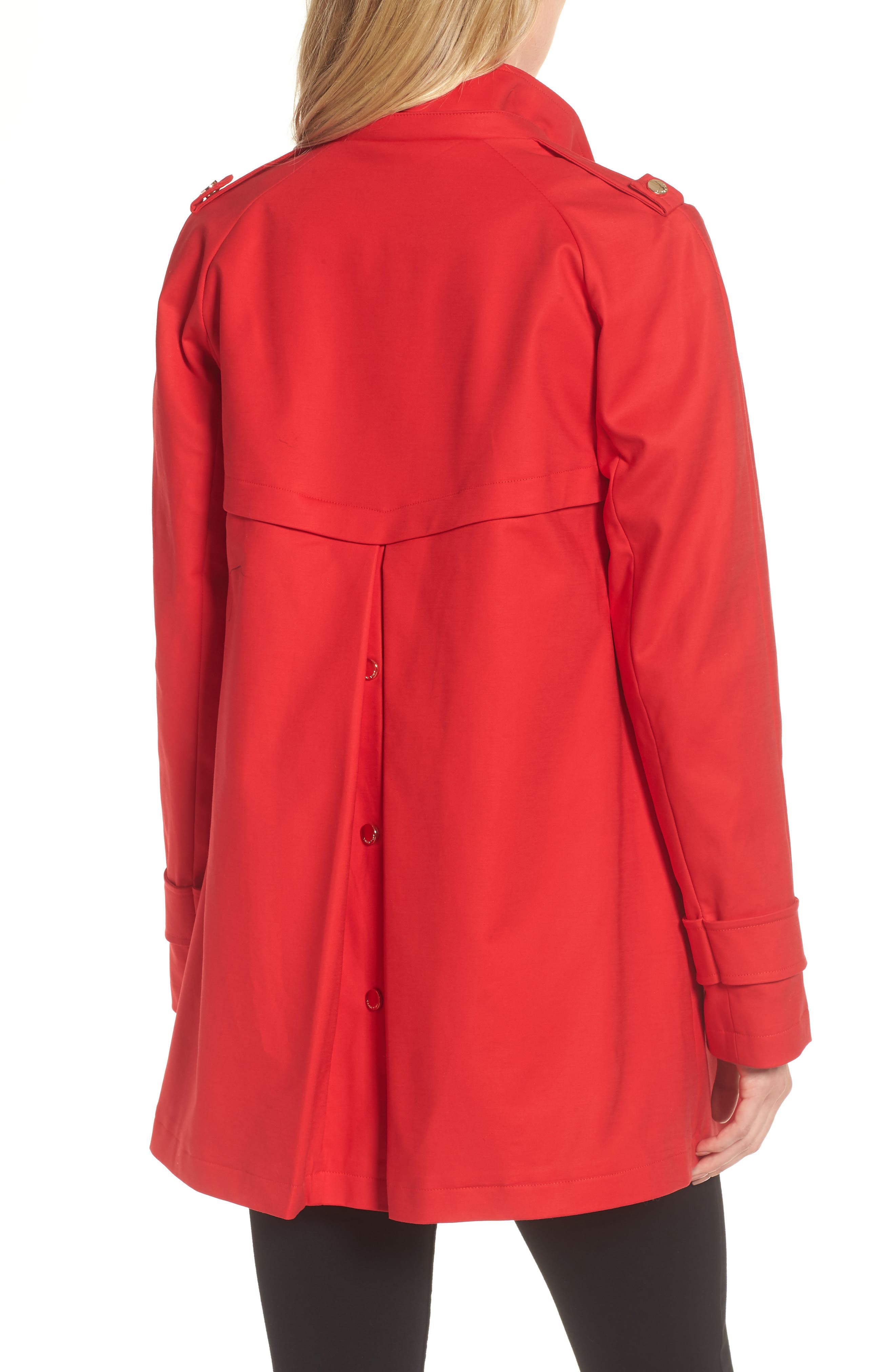 A-Line Rain Jacket,                             Alternate thumbnail 3, color,                             Red