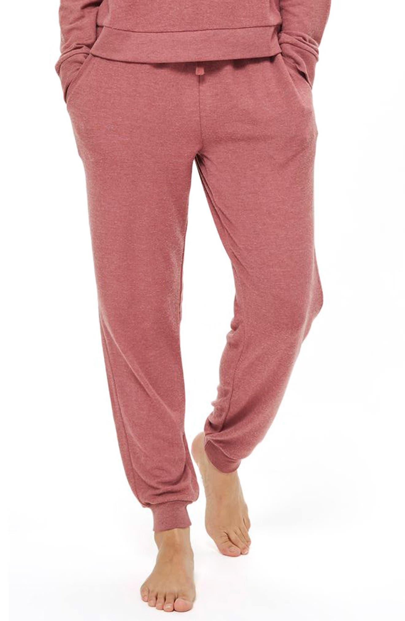 Rose Jogger Pajama Pants,                         Main,                         color, Pink