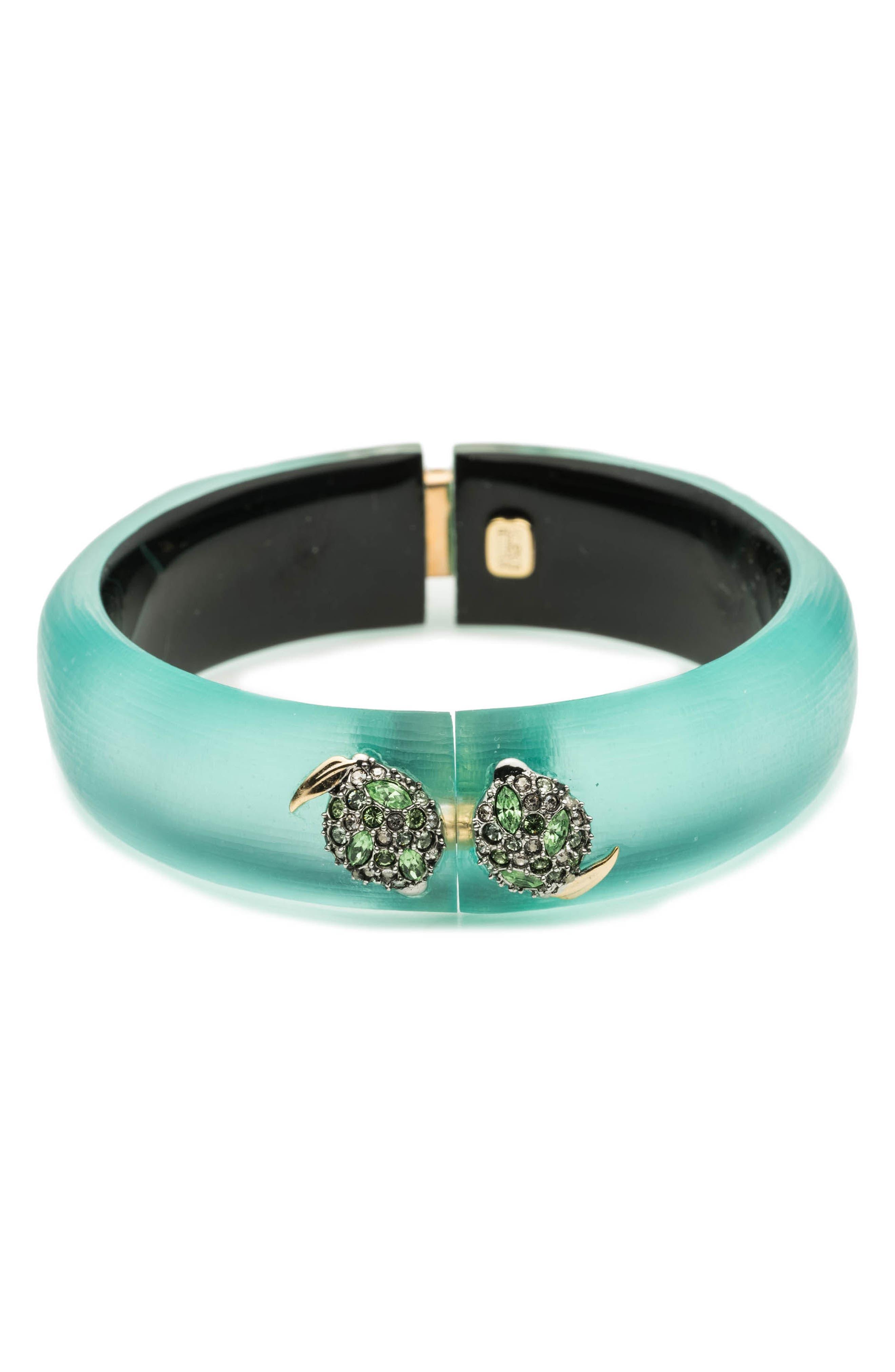Medium Lime Hinge Bracelet,                             Main thumbnail 1, color,                             Mint Green
