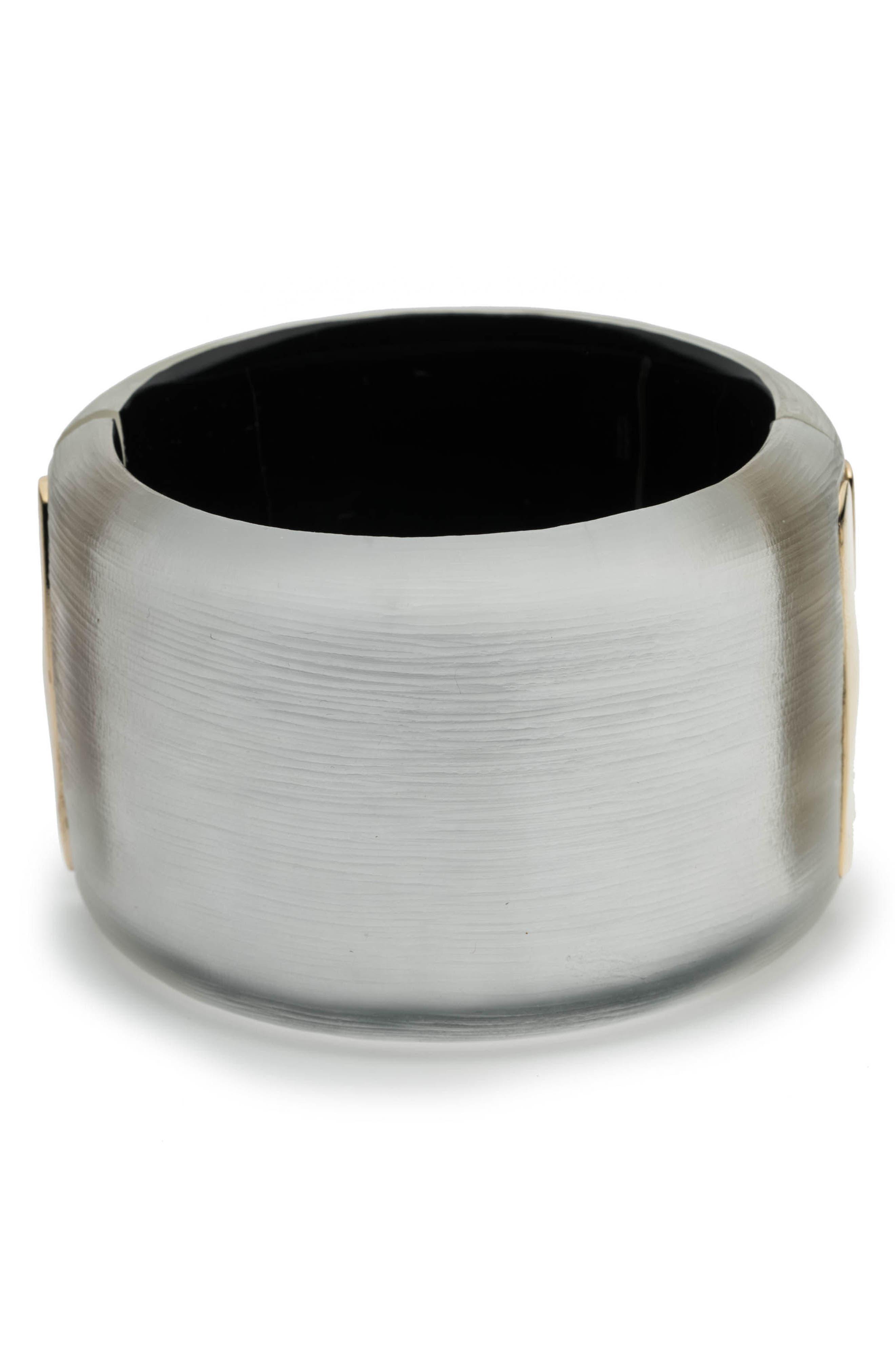 Fruit Studded Lucite<sup>®</sup> Hinge Bracelet,                             Alternate thumbnail 2, color,                             Silver
