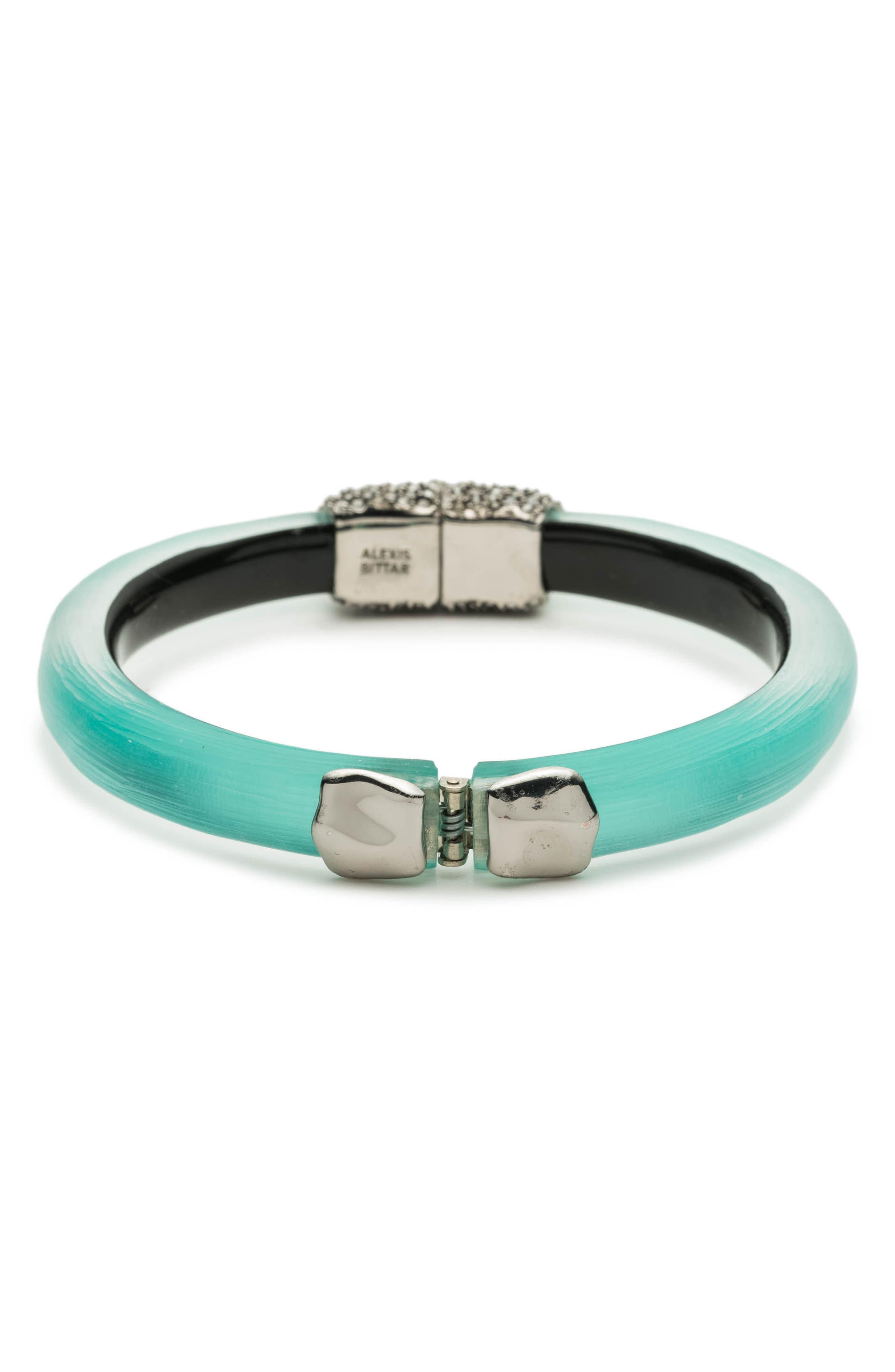 Skinny Hinge Bracelet,                             Alternate thumbnail 2, color,                             Mint Green