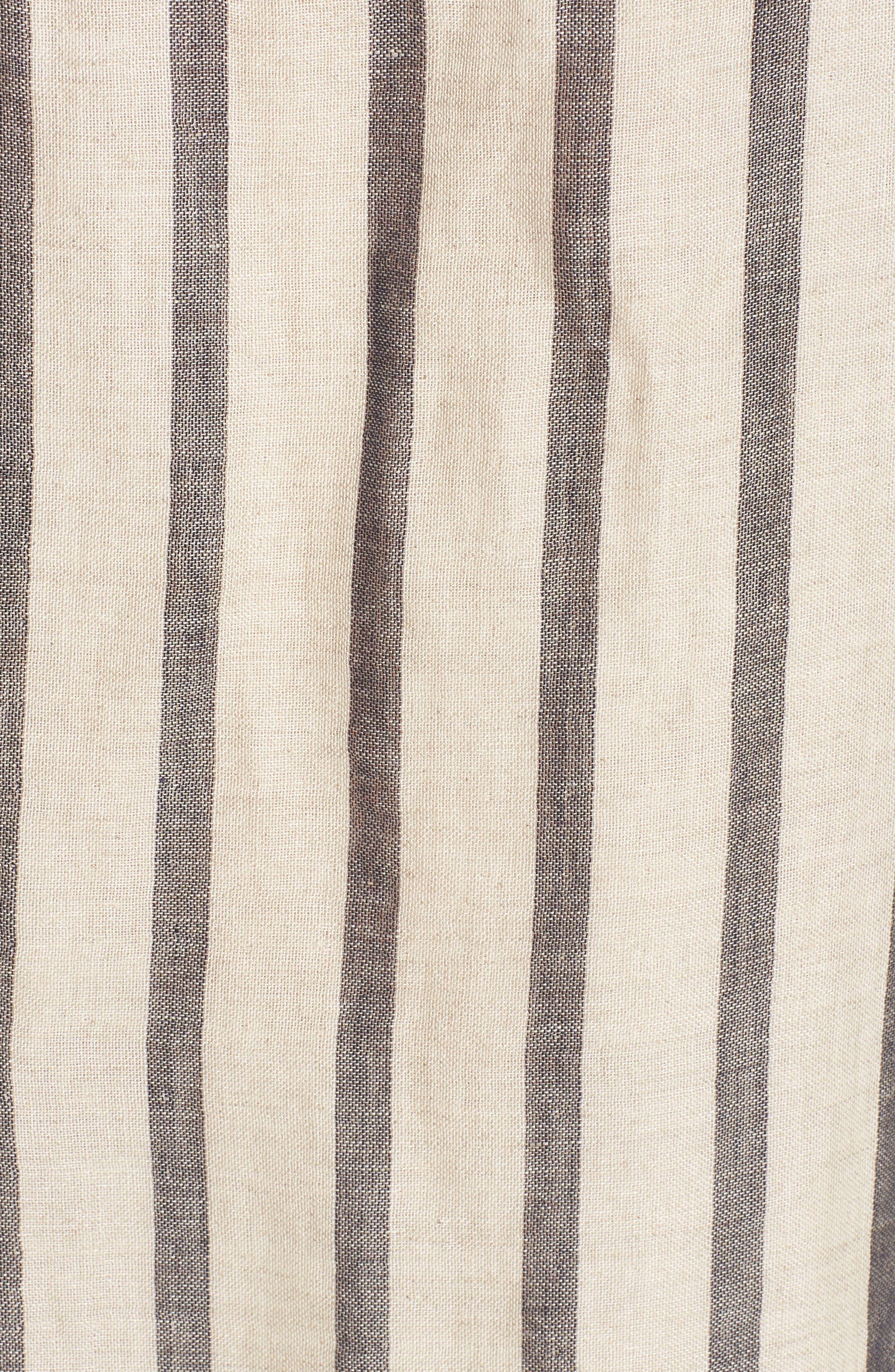Stripe Linen & Cotton Shift Dress,                             Alternate thumbnail 5, color,                             Natural