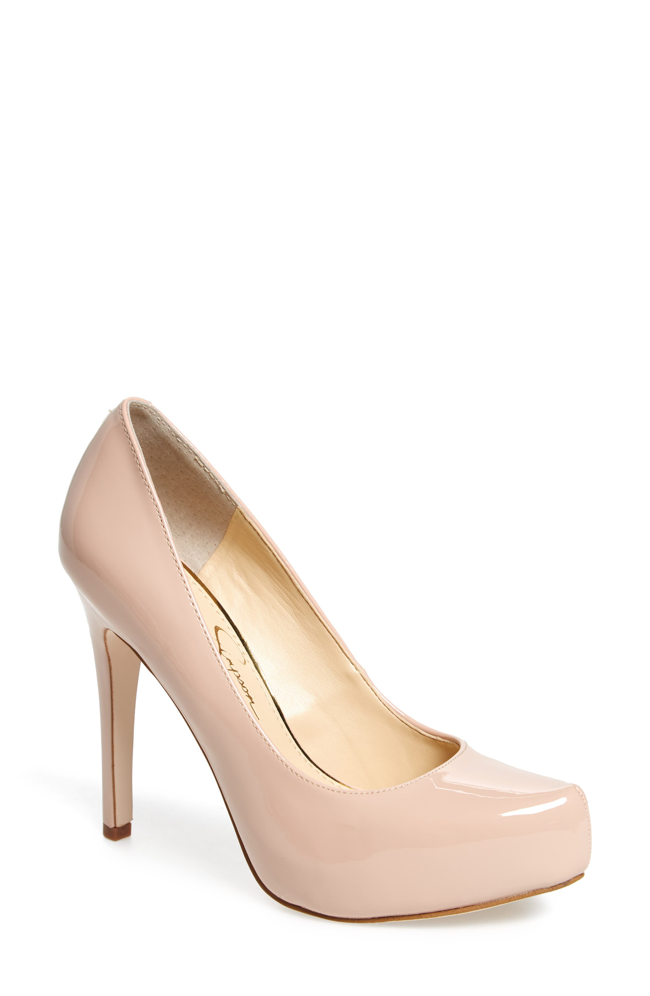 Jessica Simpson Parisah Glitter Platform Pump (Women)