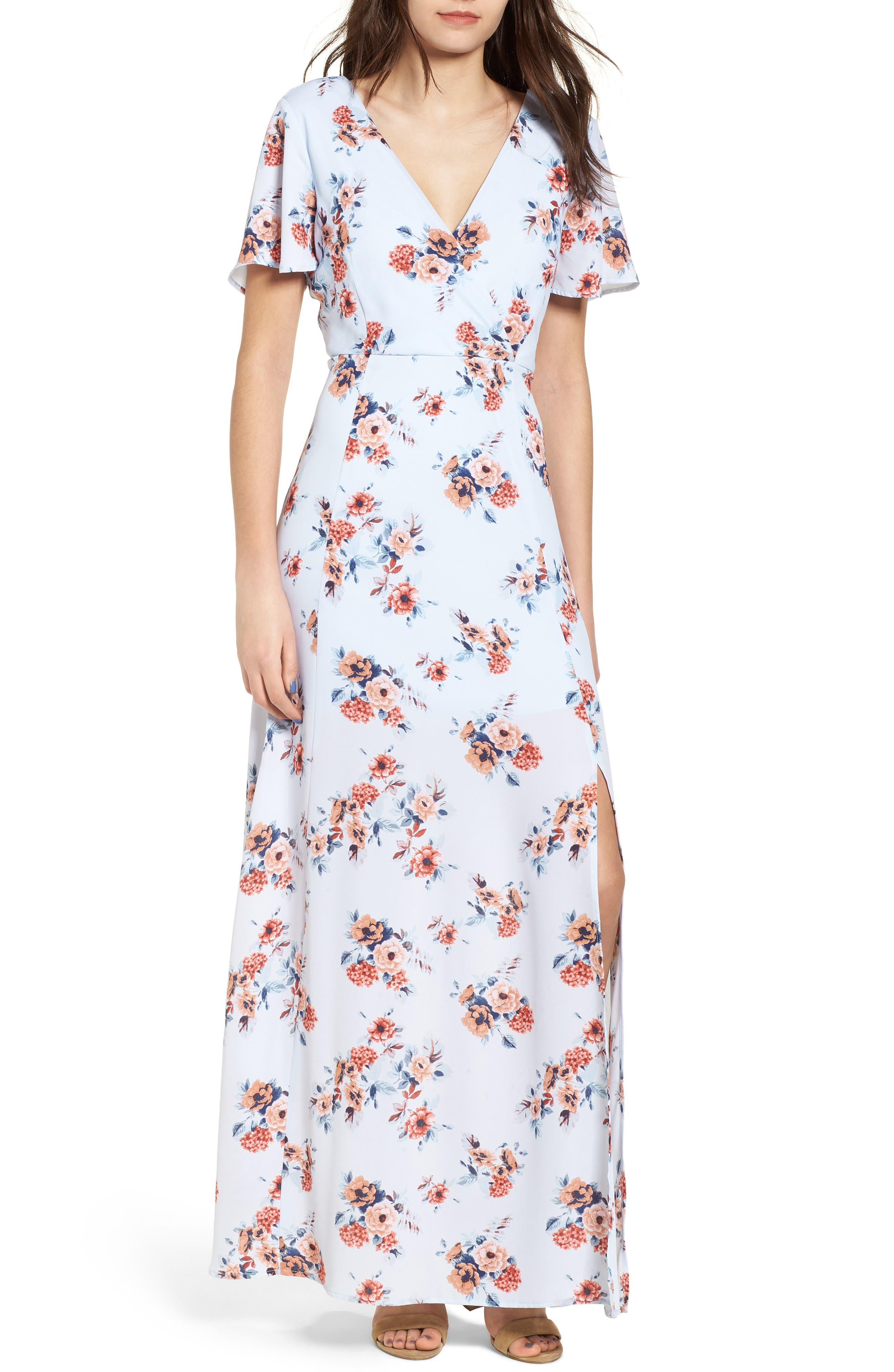 Main Image - Dee Elly Floral Maxi Dress