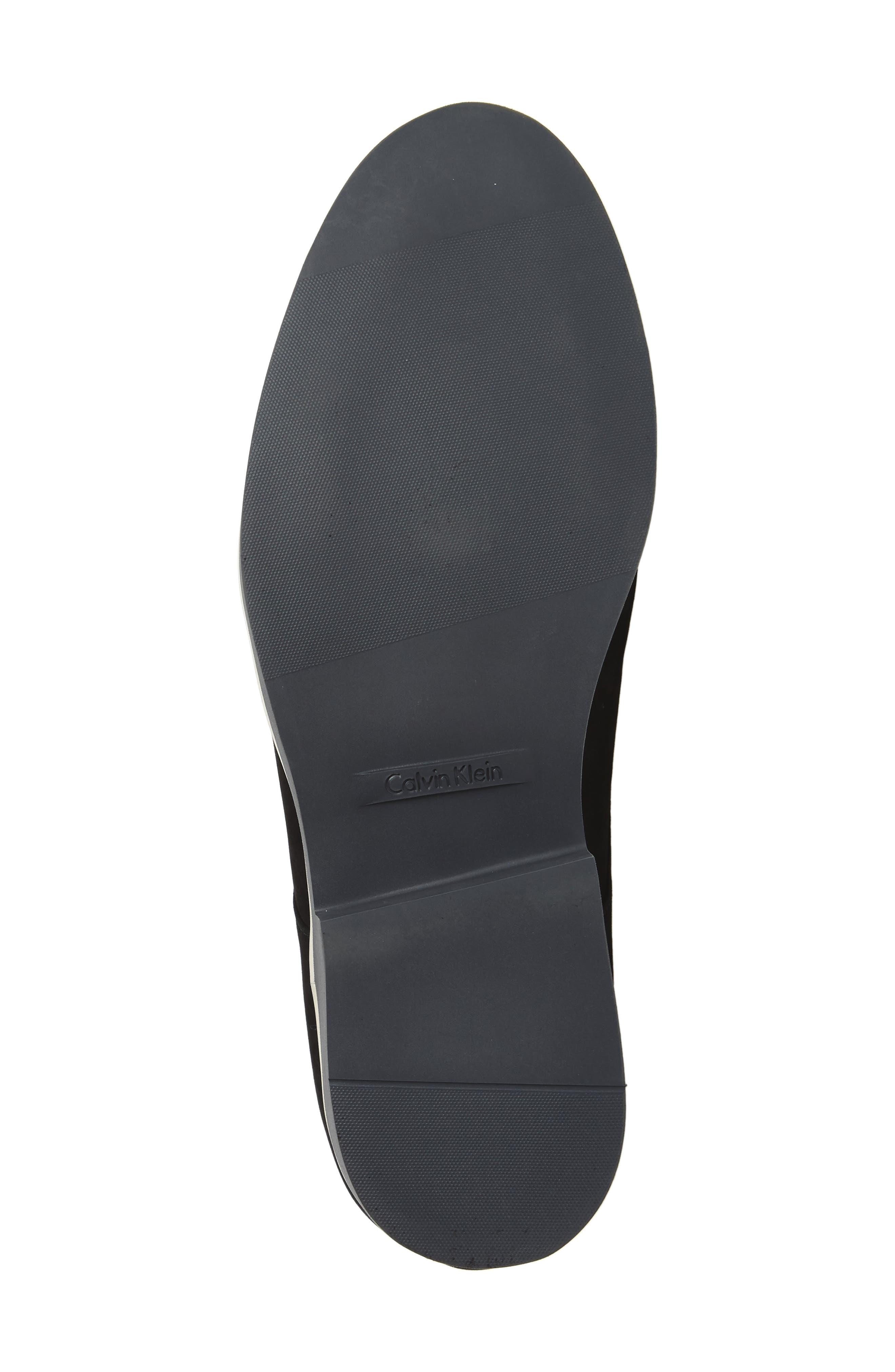 Faustino Plain-Toe Oxford,                             Alternate thumbnail 6, color,                             Black Leather