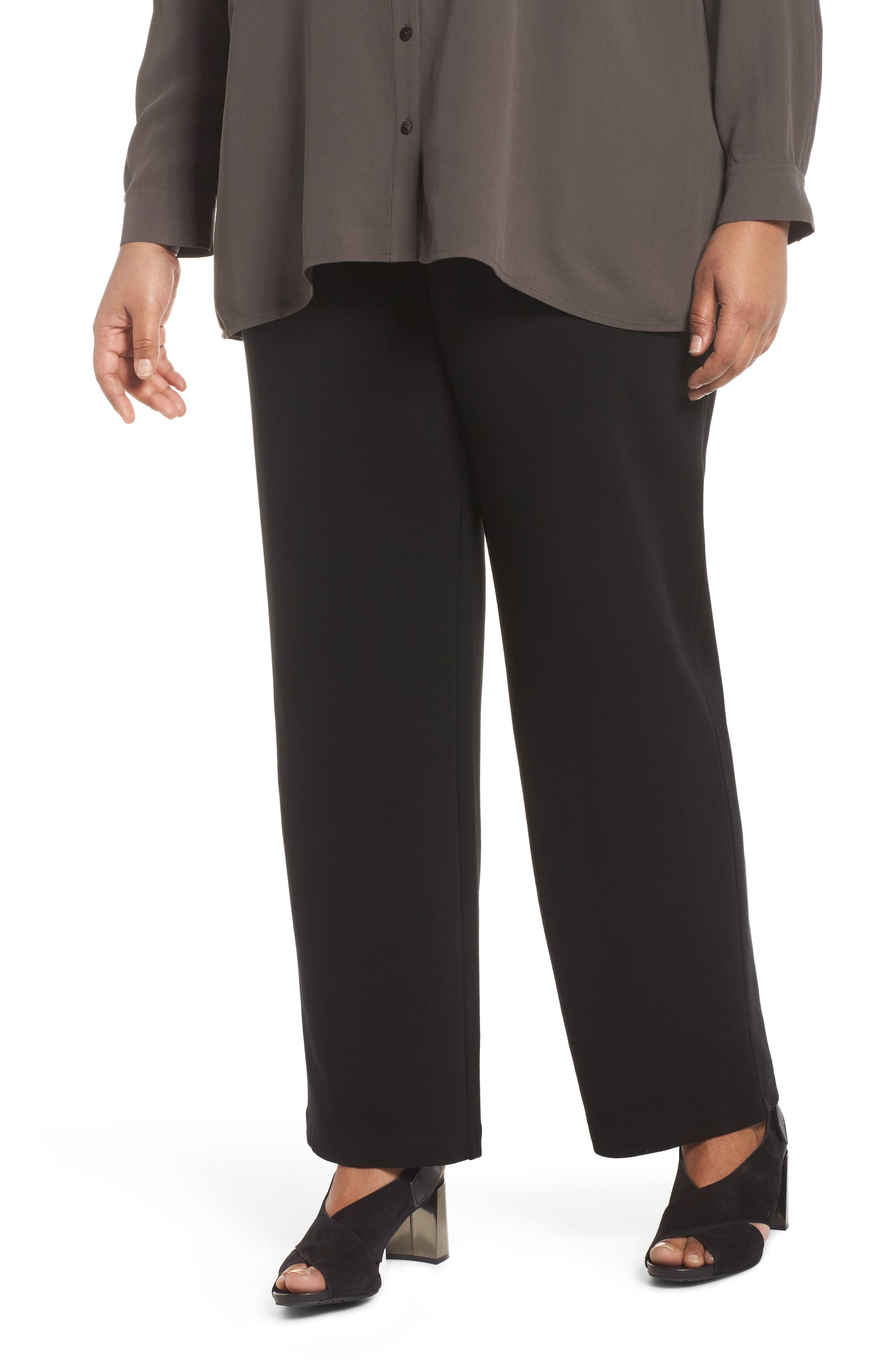 Straight Leg Pants,                         Main,                         color, Black