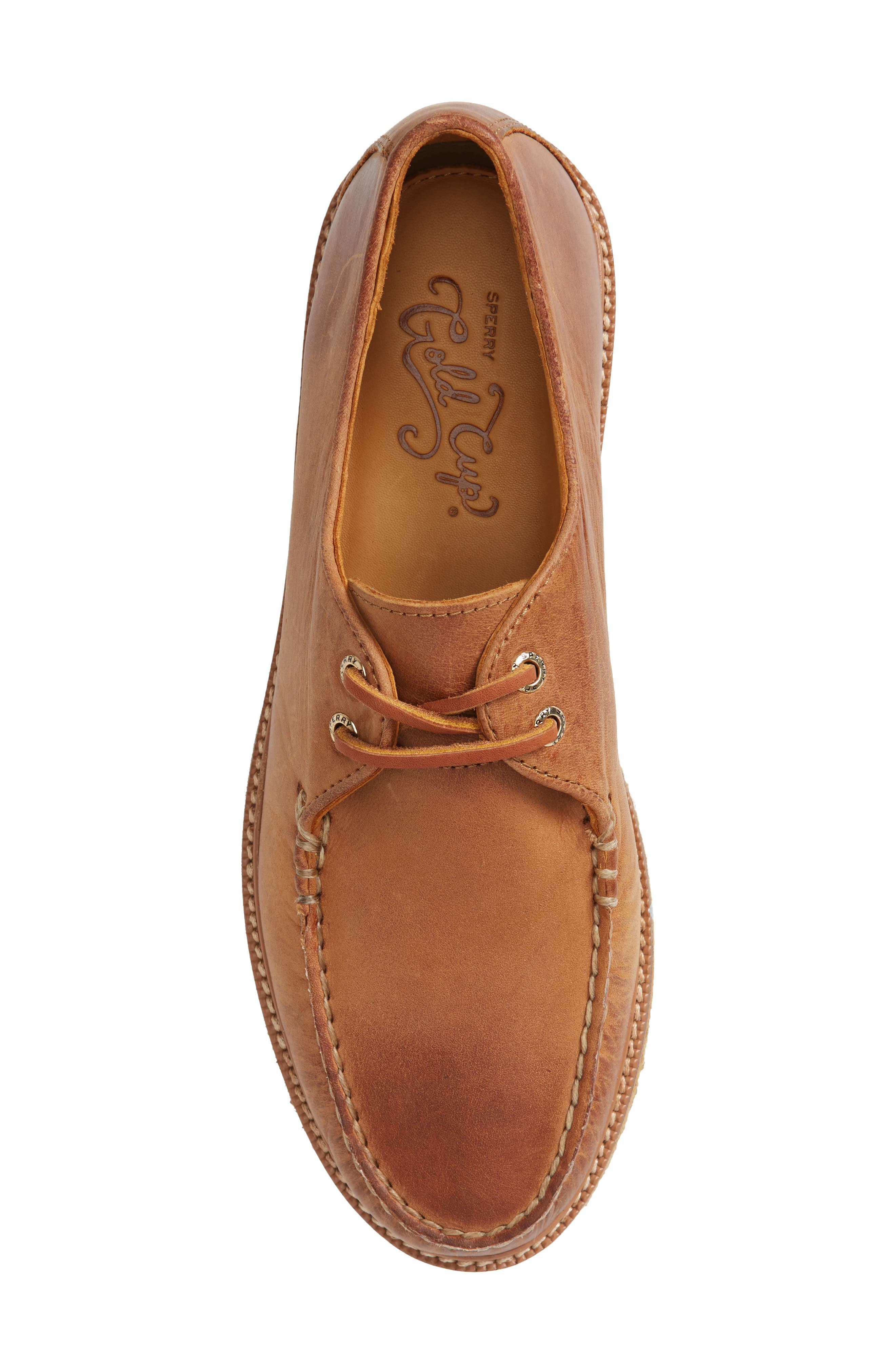 Gold Cup Captain's Crepe Sole Oxford,                             Alternate thumbnail 5, color,                             Tan Leather