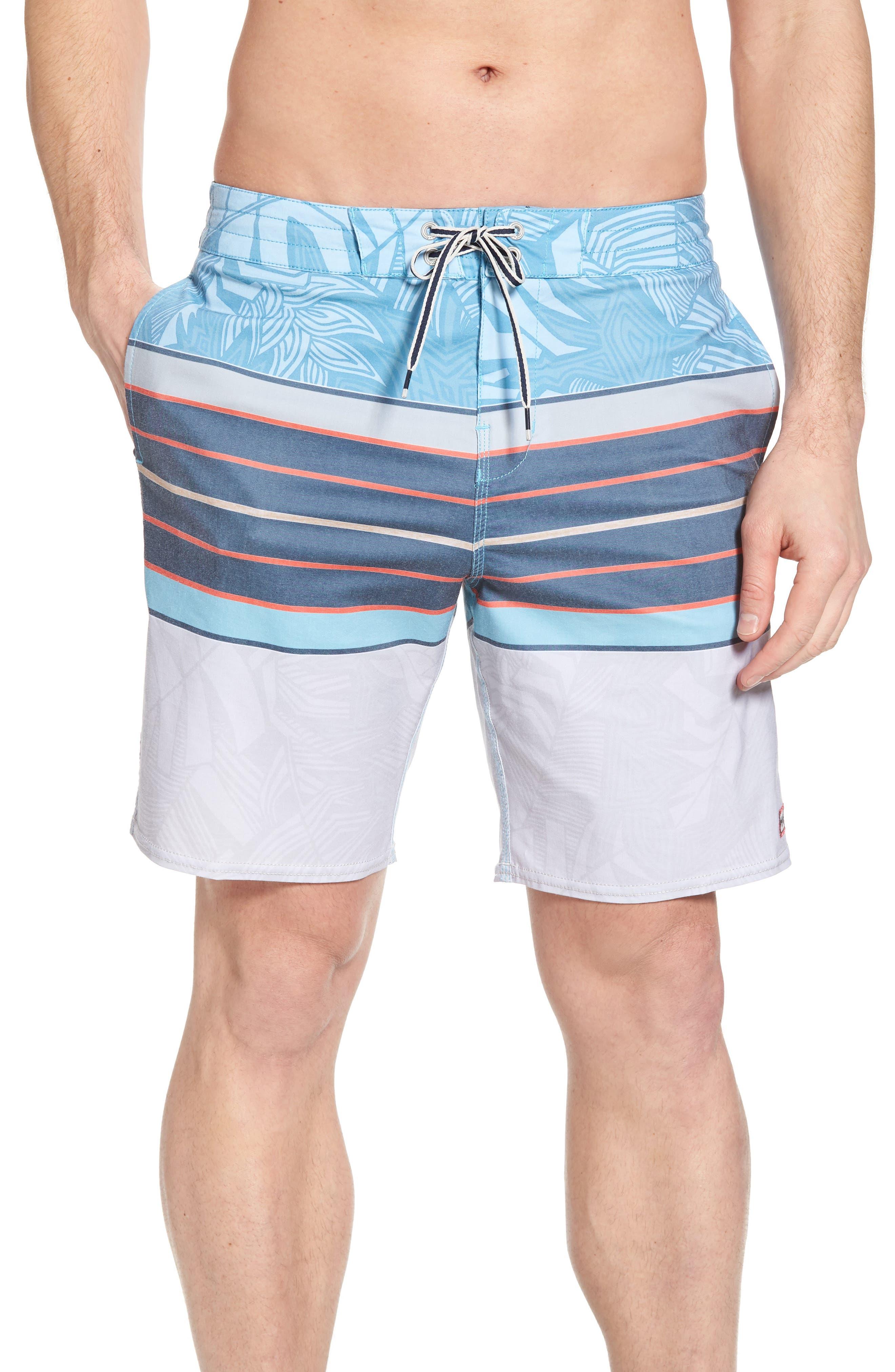 Stringer Lo Tides Board Shorts,                             Main thumbnail 1, color,                             Blue