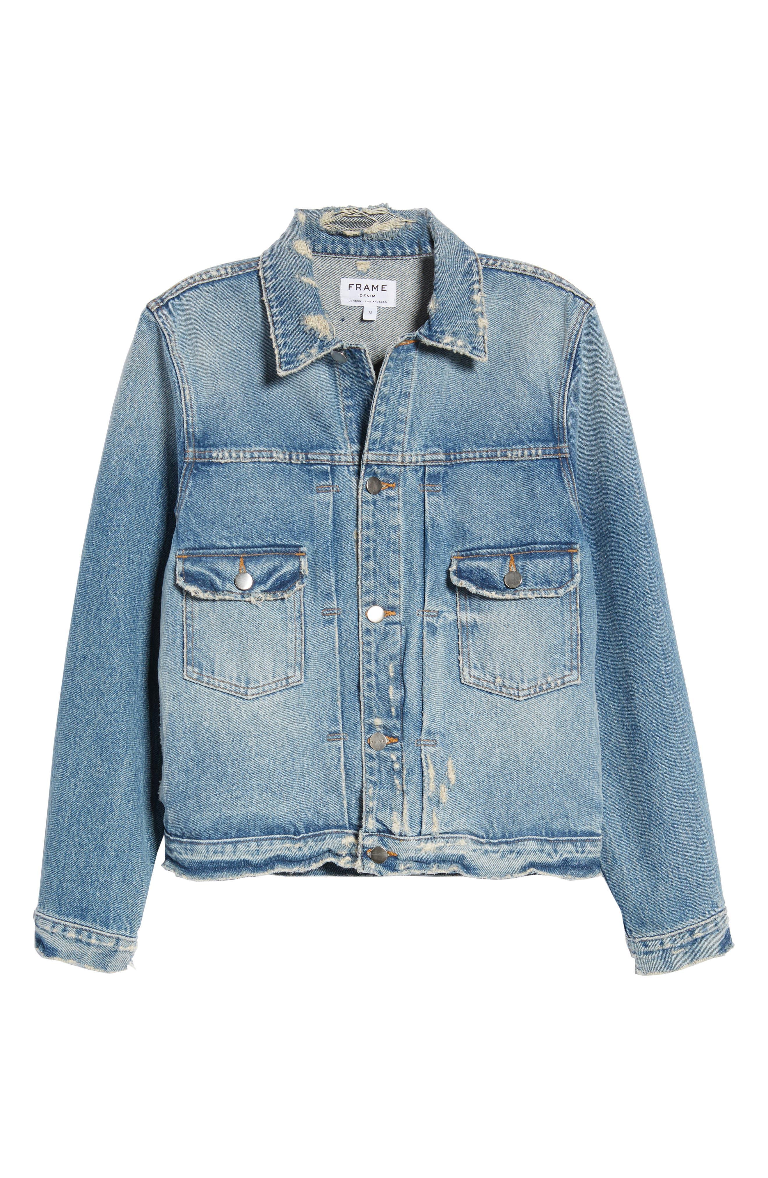 Alternate Image 6  - FRAME L'Homme Denim Jacket