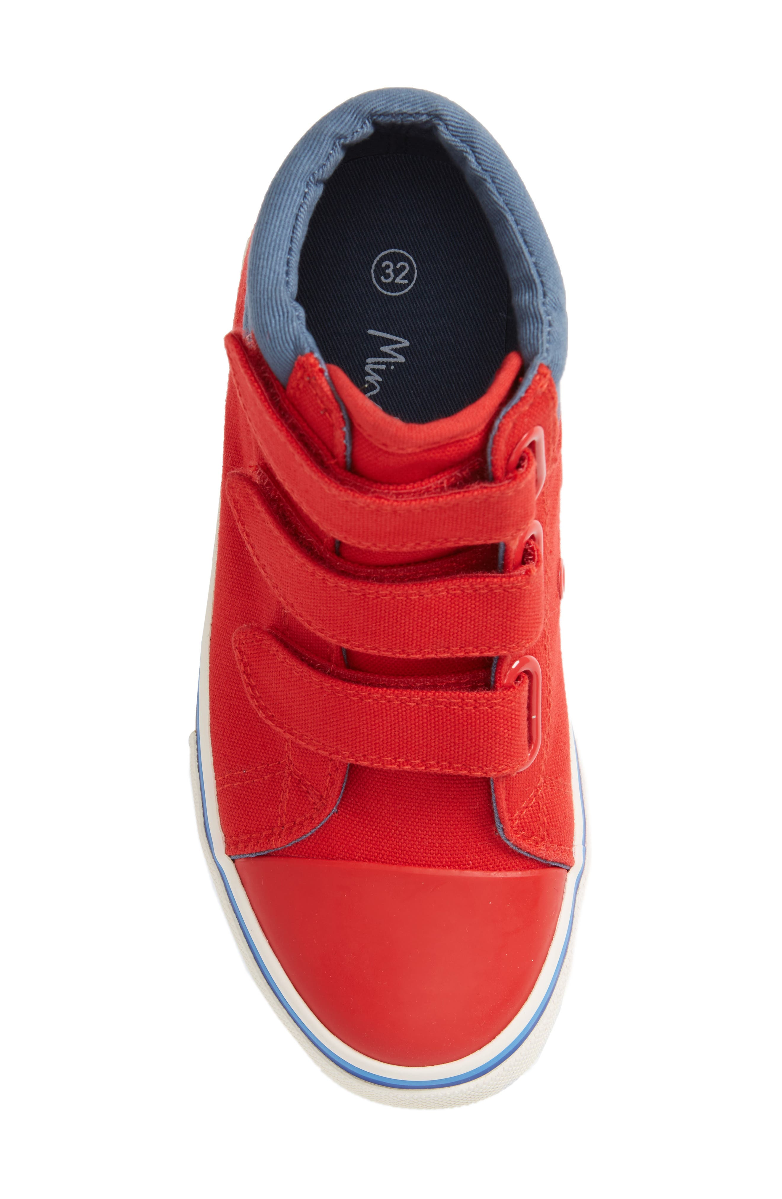 High Top Sneaker,                             Alternate thumbnail 5, color,                             Salsa Red
