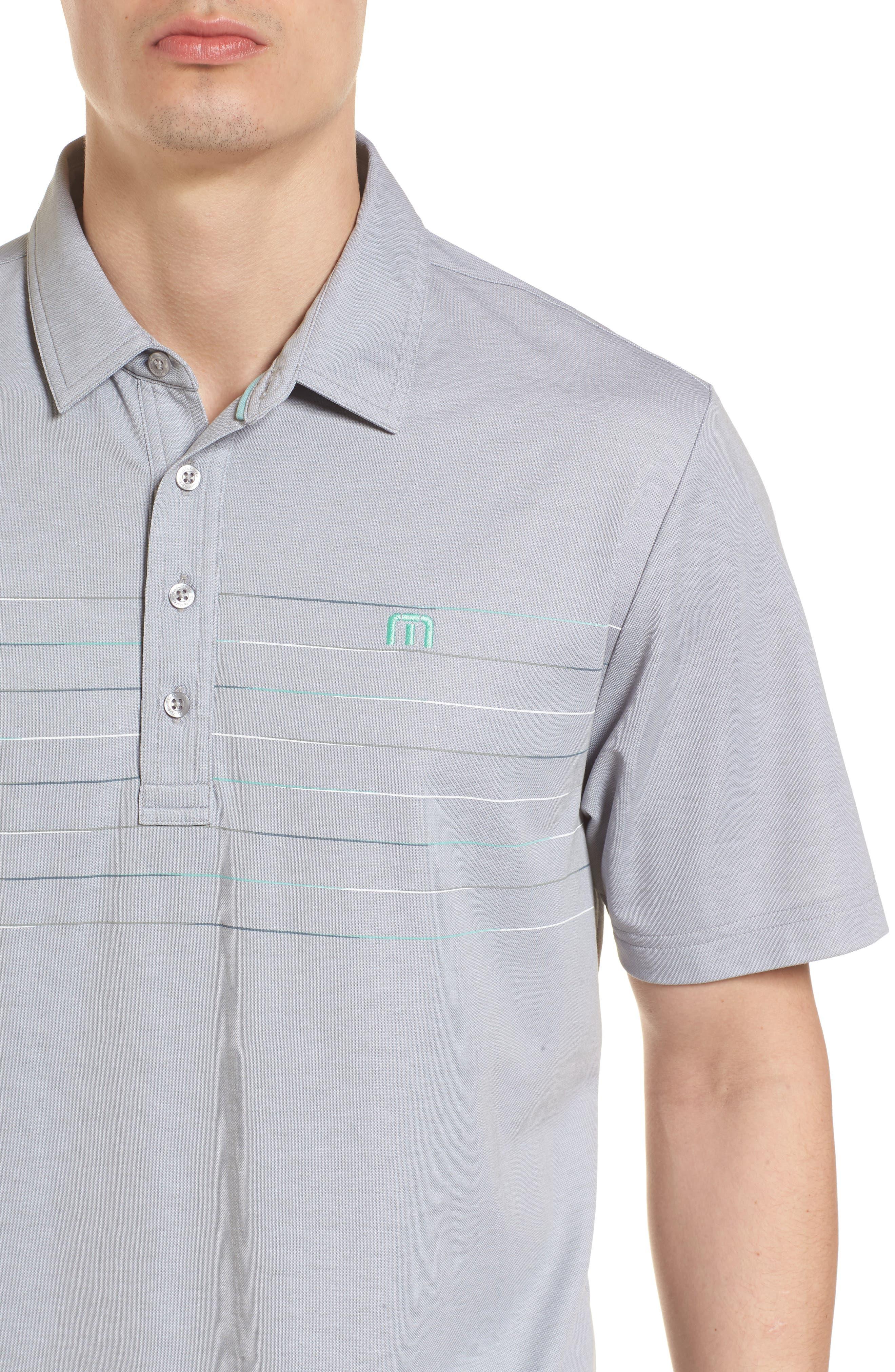 Good Good Polo Shirt,                             Alternate thumbnail 4, color,                             Heather Grey Monument