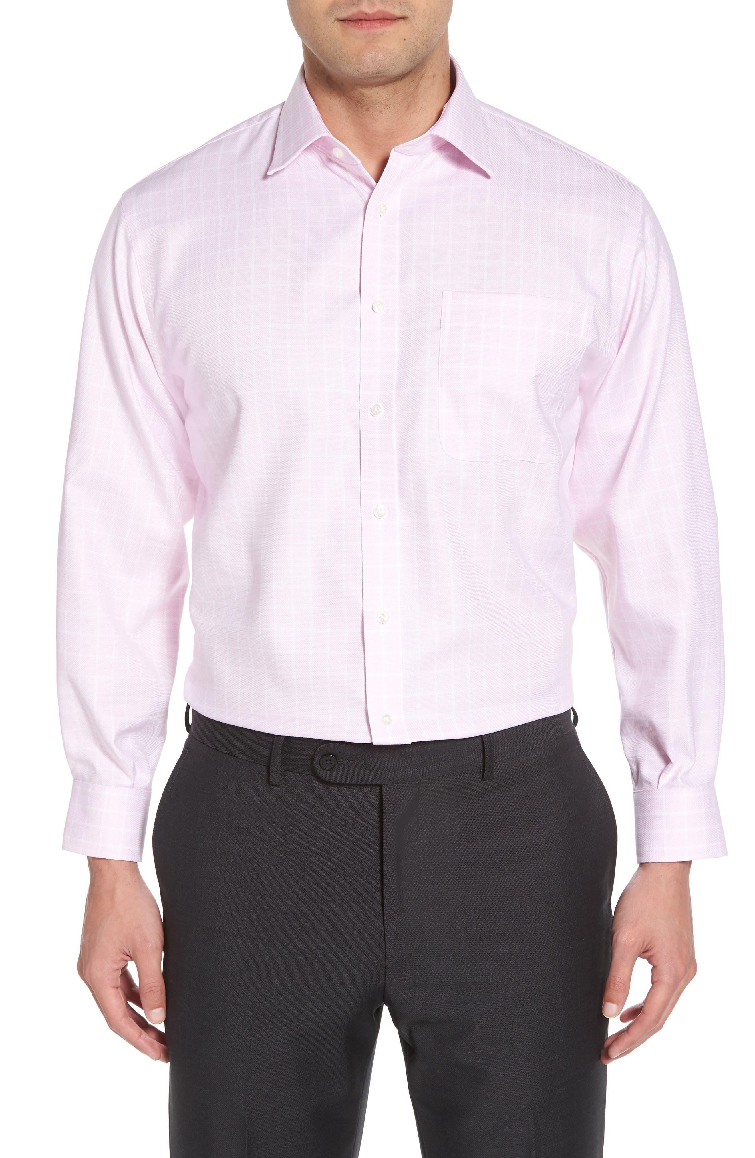 Classic Fit Non-Iron Check Dress Shirt,                             Main thumbnail 1, color,                             Pink Lavender