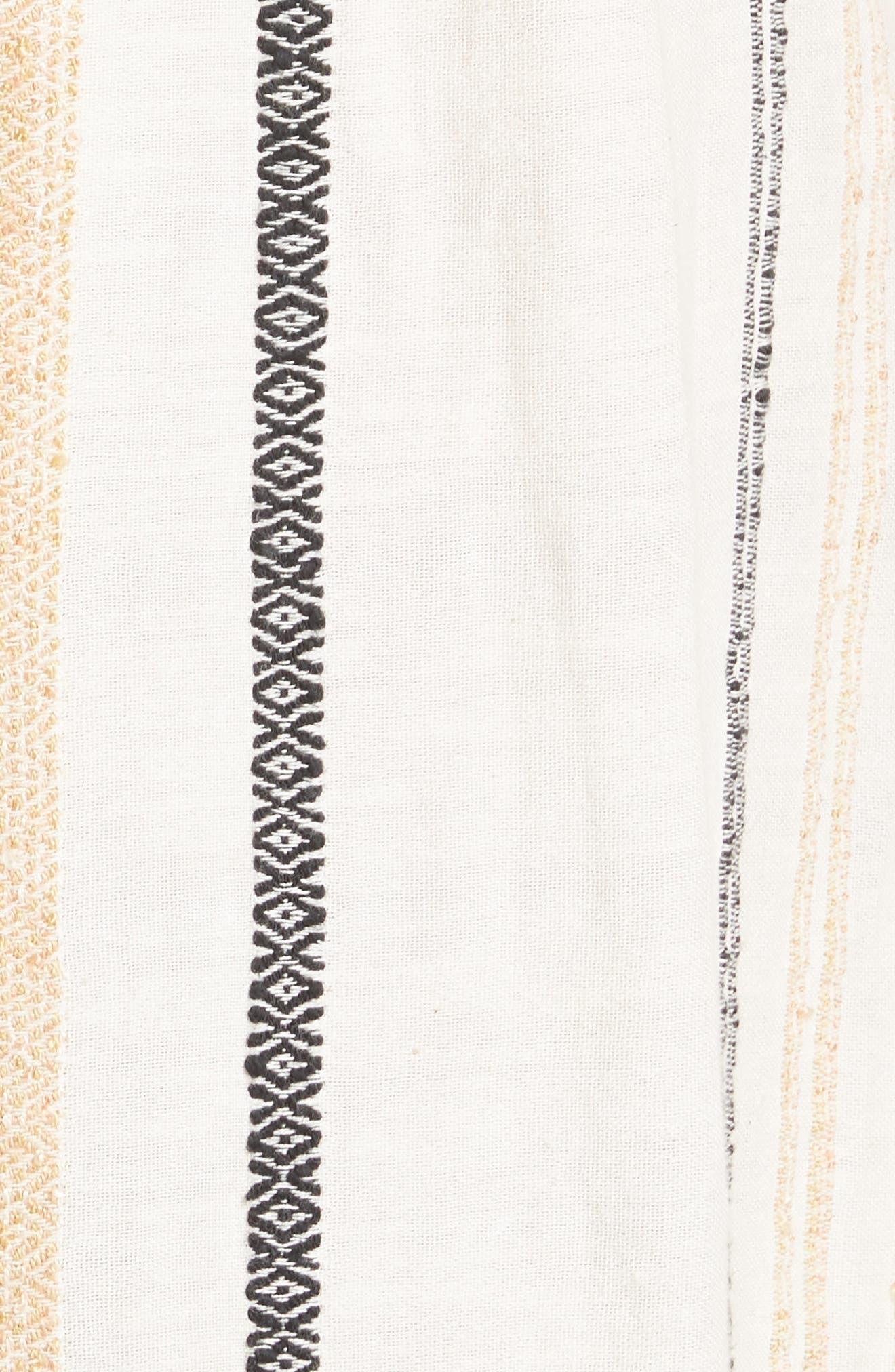 Breezin' Through Stripe Jumpsuit,                             Alternate thumbnail 5, color,                             Beige