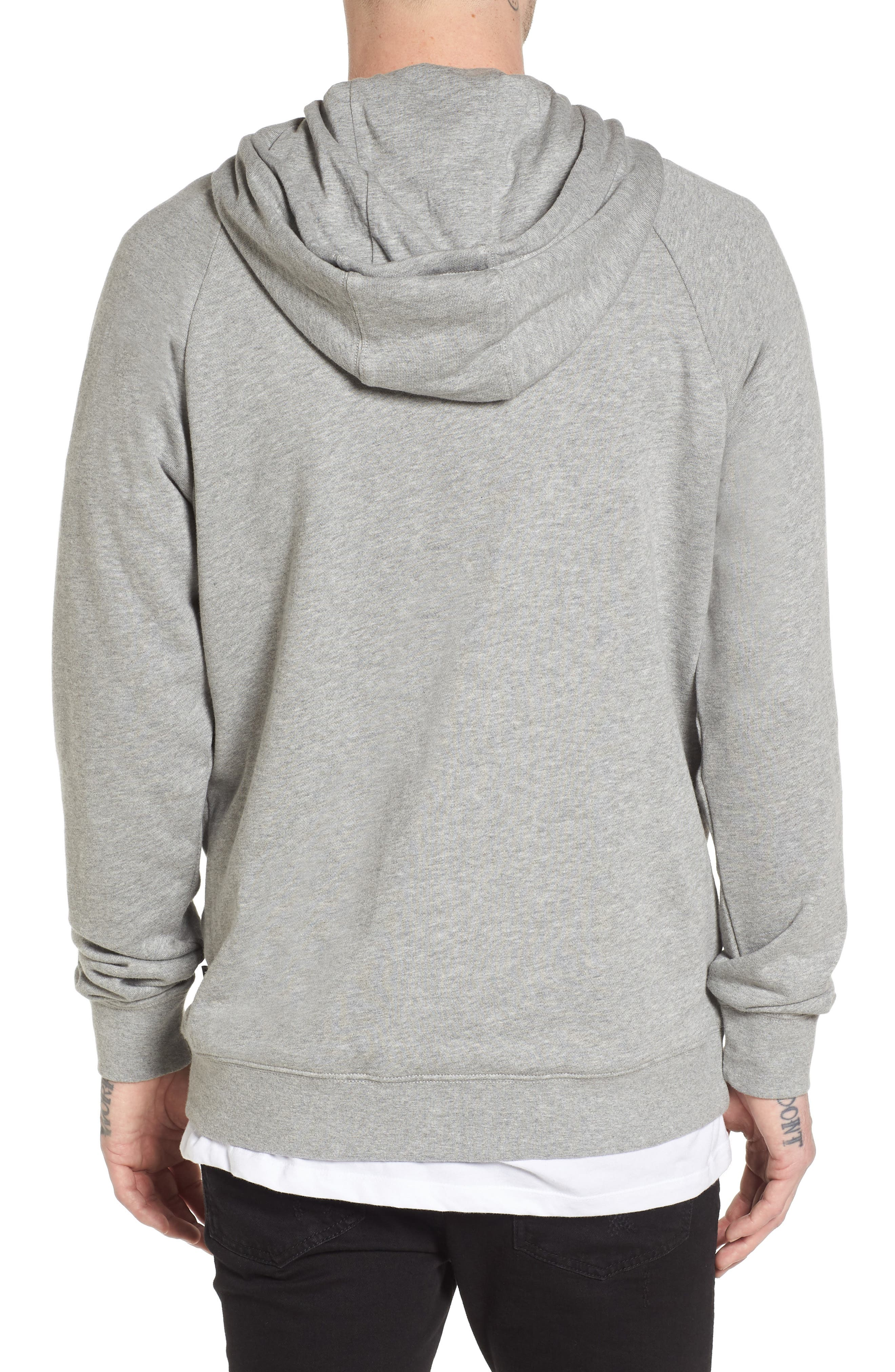 Stacked Rubber Hoodie Sweatshirt,                             Alternate thumbnail 2, color,                             Cement Heather