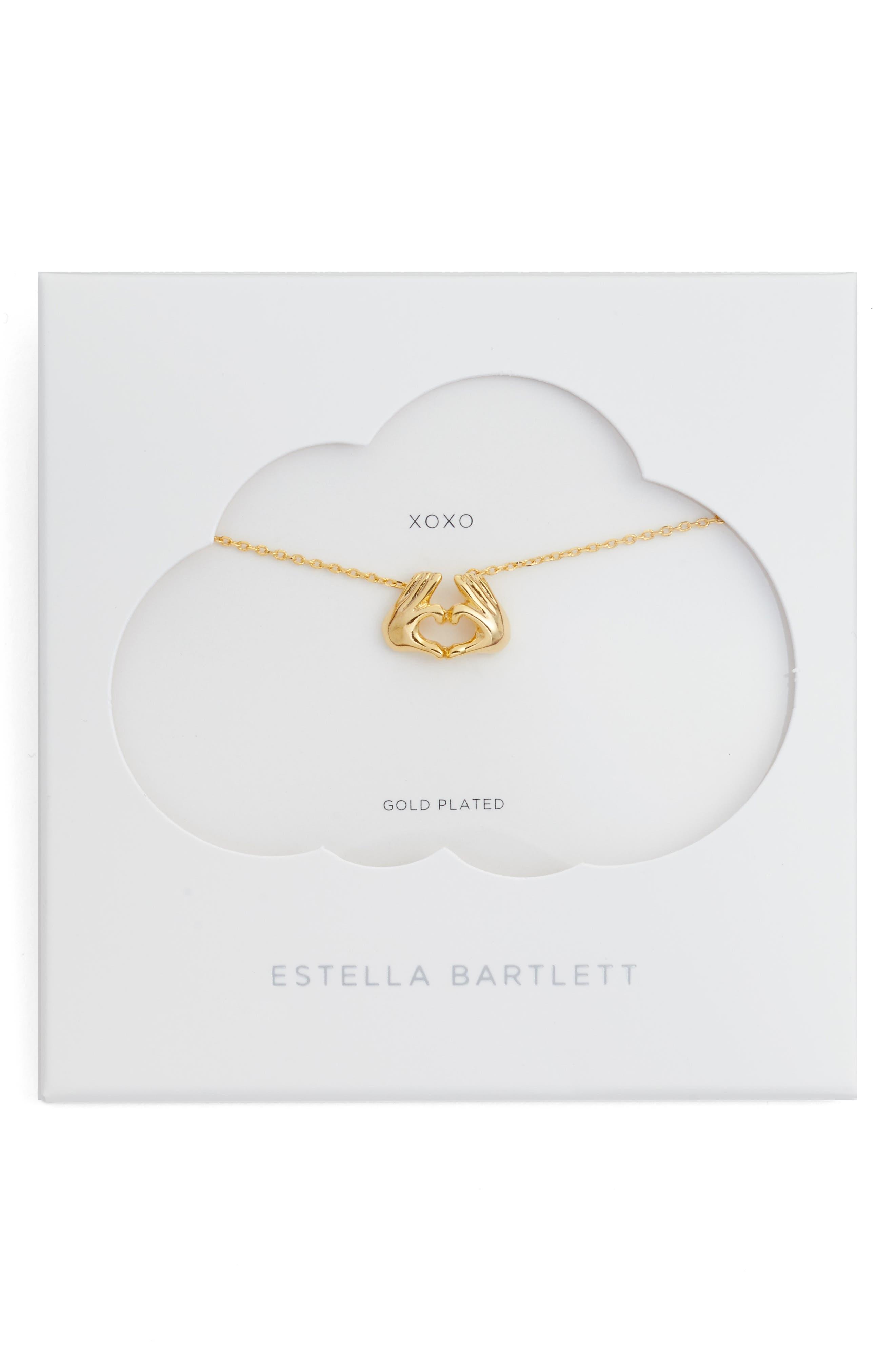 Estella Bartlett Heart Hands Necklace