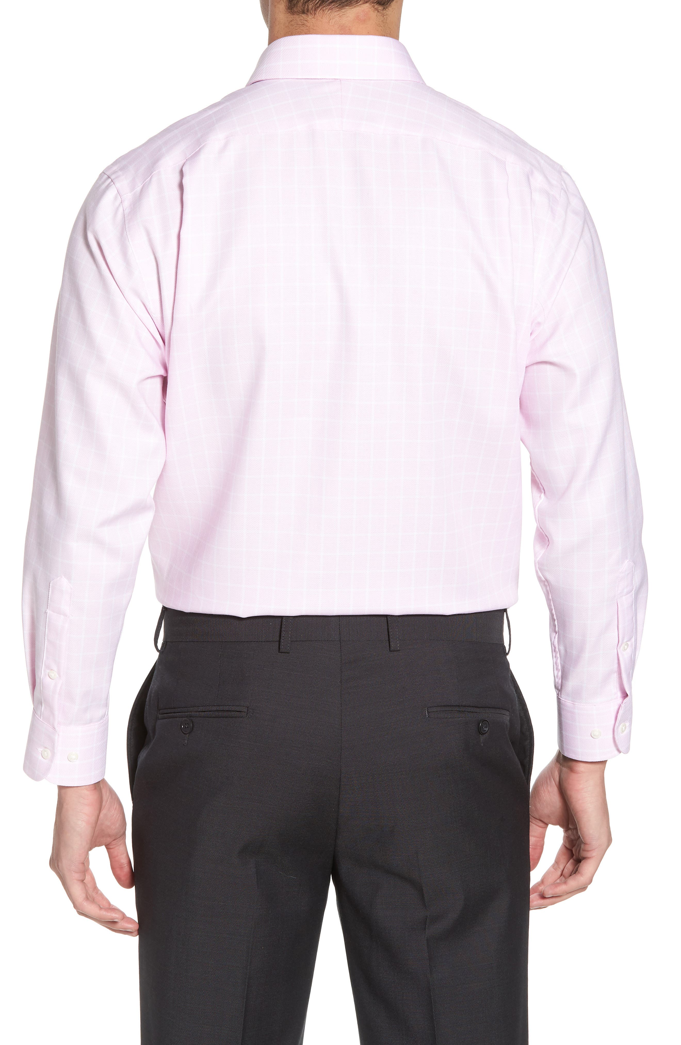 Traditional Fit Non-Iron Check Dress Shirt,                             Alternate thumbnail 3, color,                             Pink Lavender