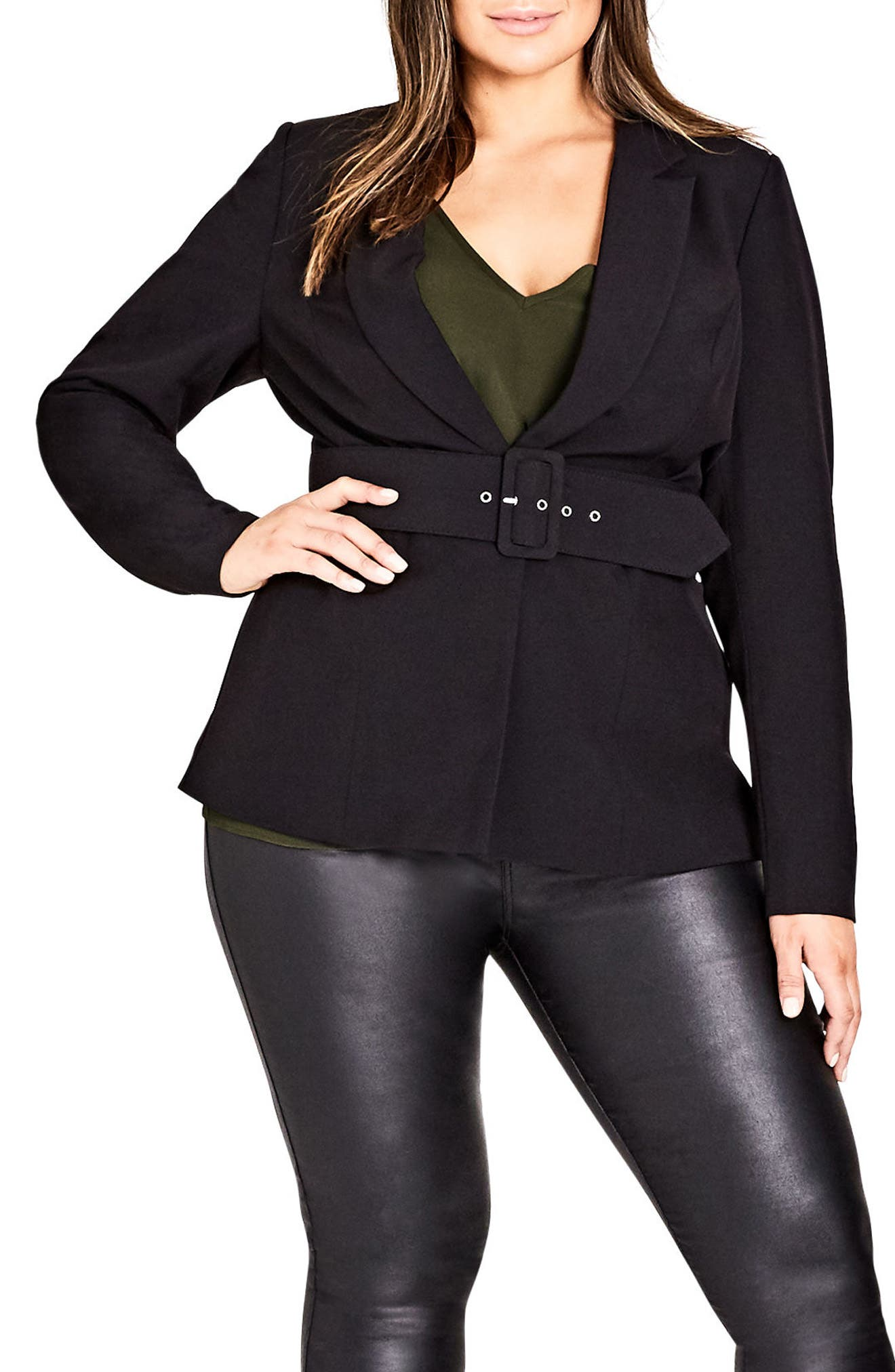 Strapped In Jacket,                             Main thumbnail 1, color,                             Black