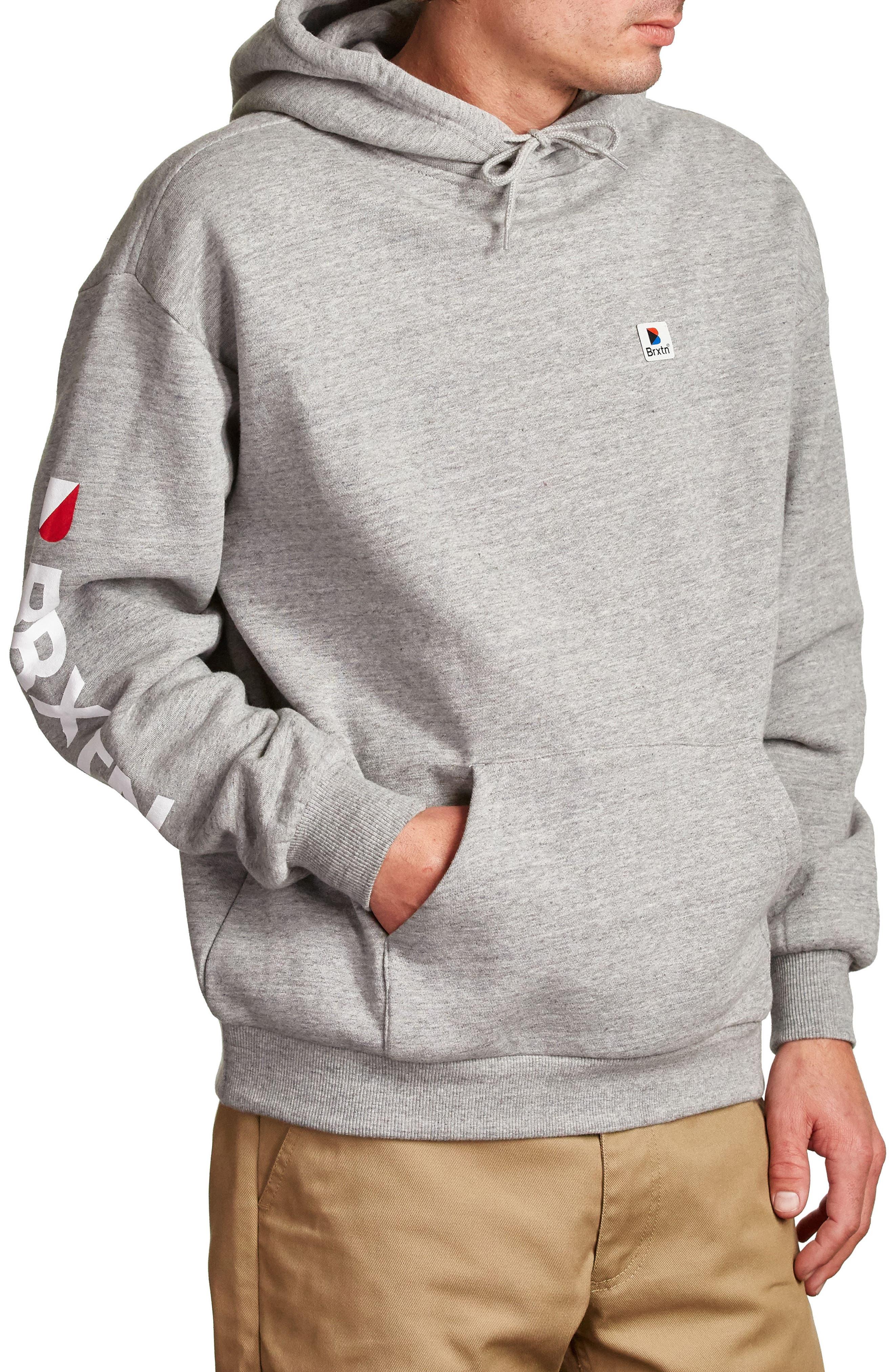 Stowell Hoodie Sweatshirt,                             Alternate thumbnail 3, color,                             Heather Grey