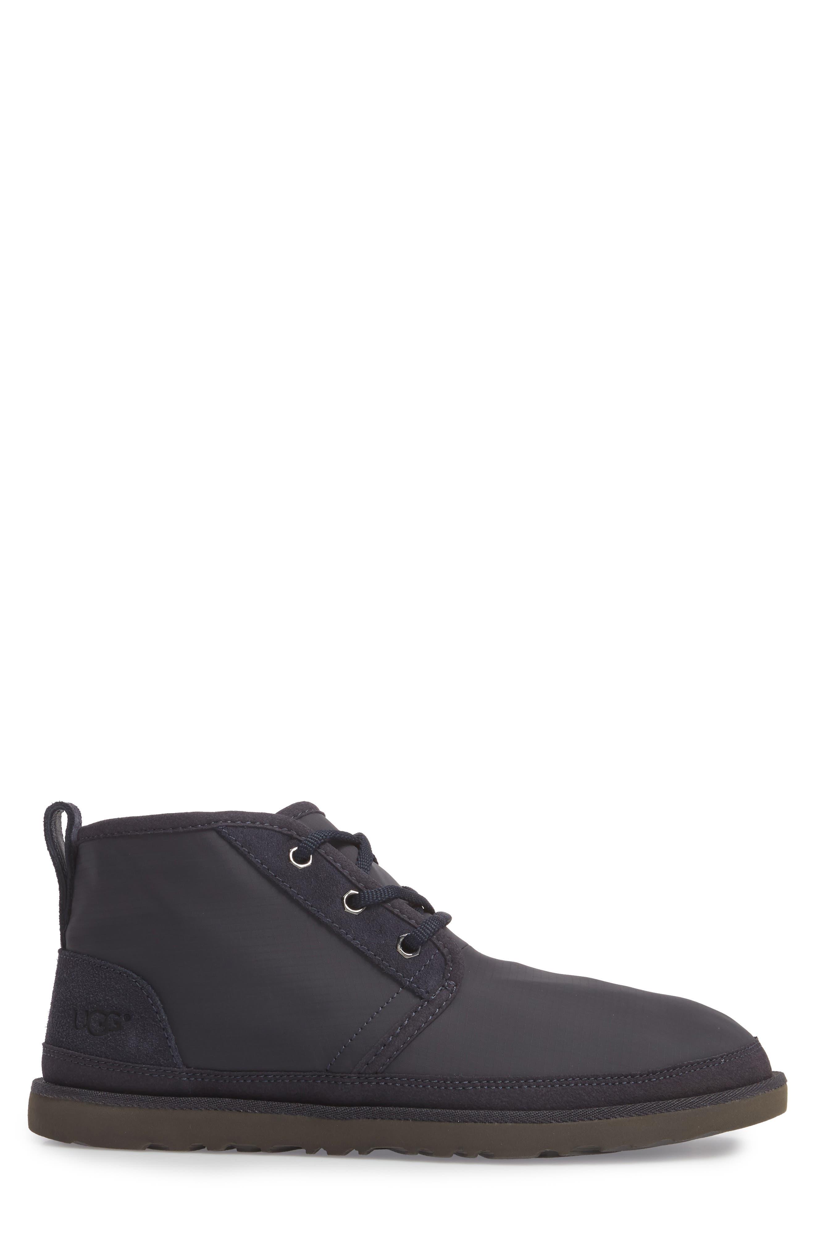 Neumel Ripstop Chukka Boot,                             Alternate thumbnail 3, color,                             True Navy Leather