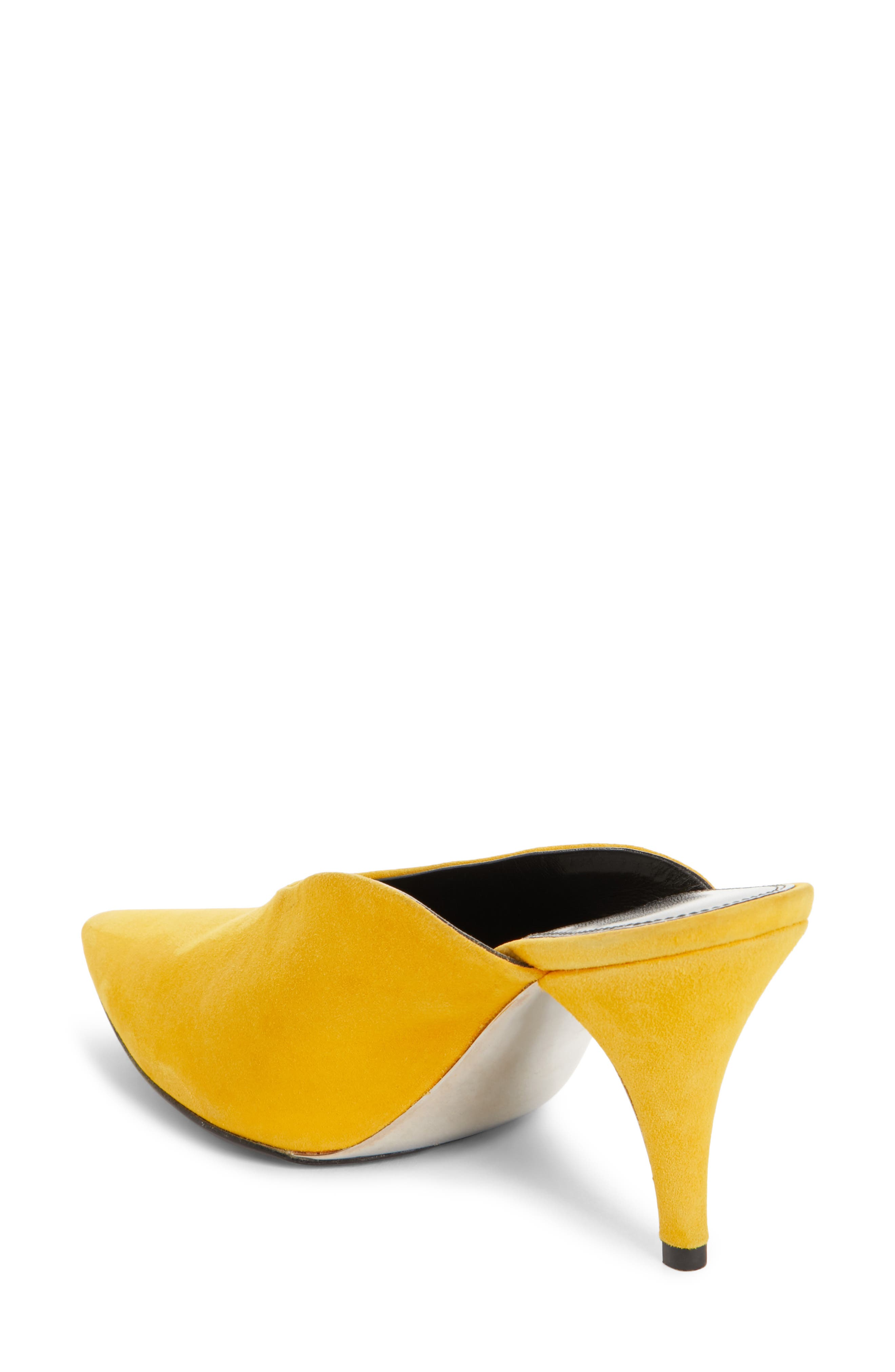 Roslynn Pointy Toe Mule,                             Alternate thumbnail 2, color,                             Sun Yellow