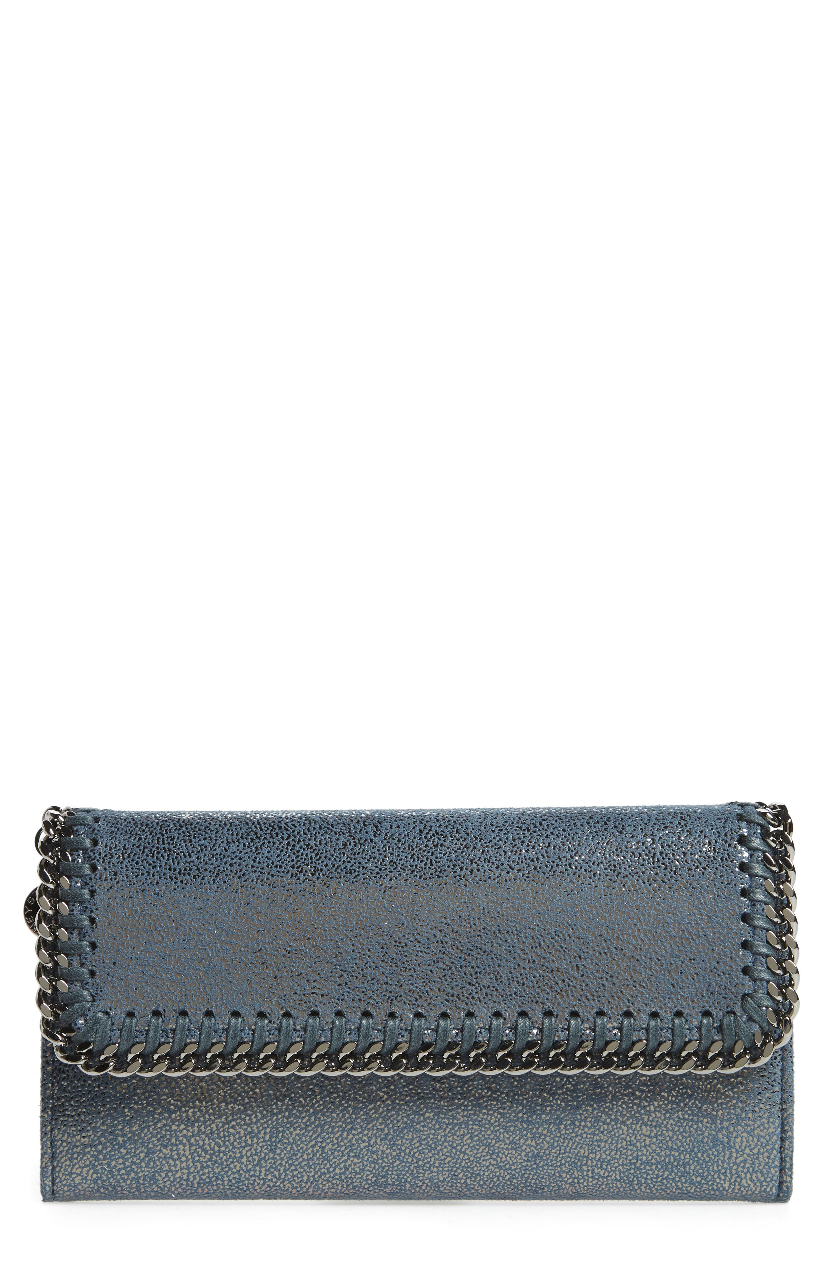 Stella McCartney Shaggy Deer Faux Leather Continental Wallet