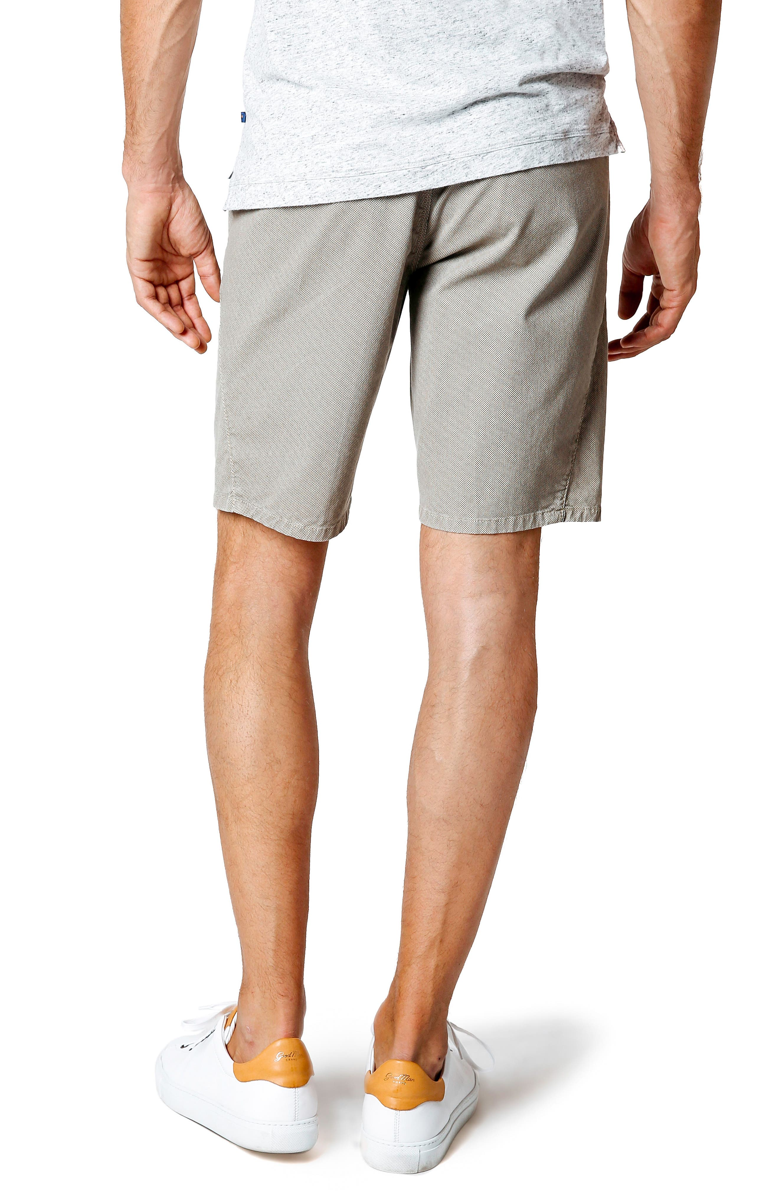 Wrap Microdot Stretch Chino Shorts,                             Alternate thumbnail 2, color,                             Magnet