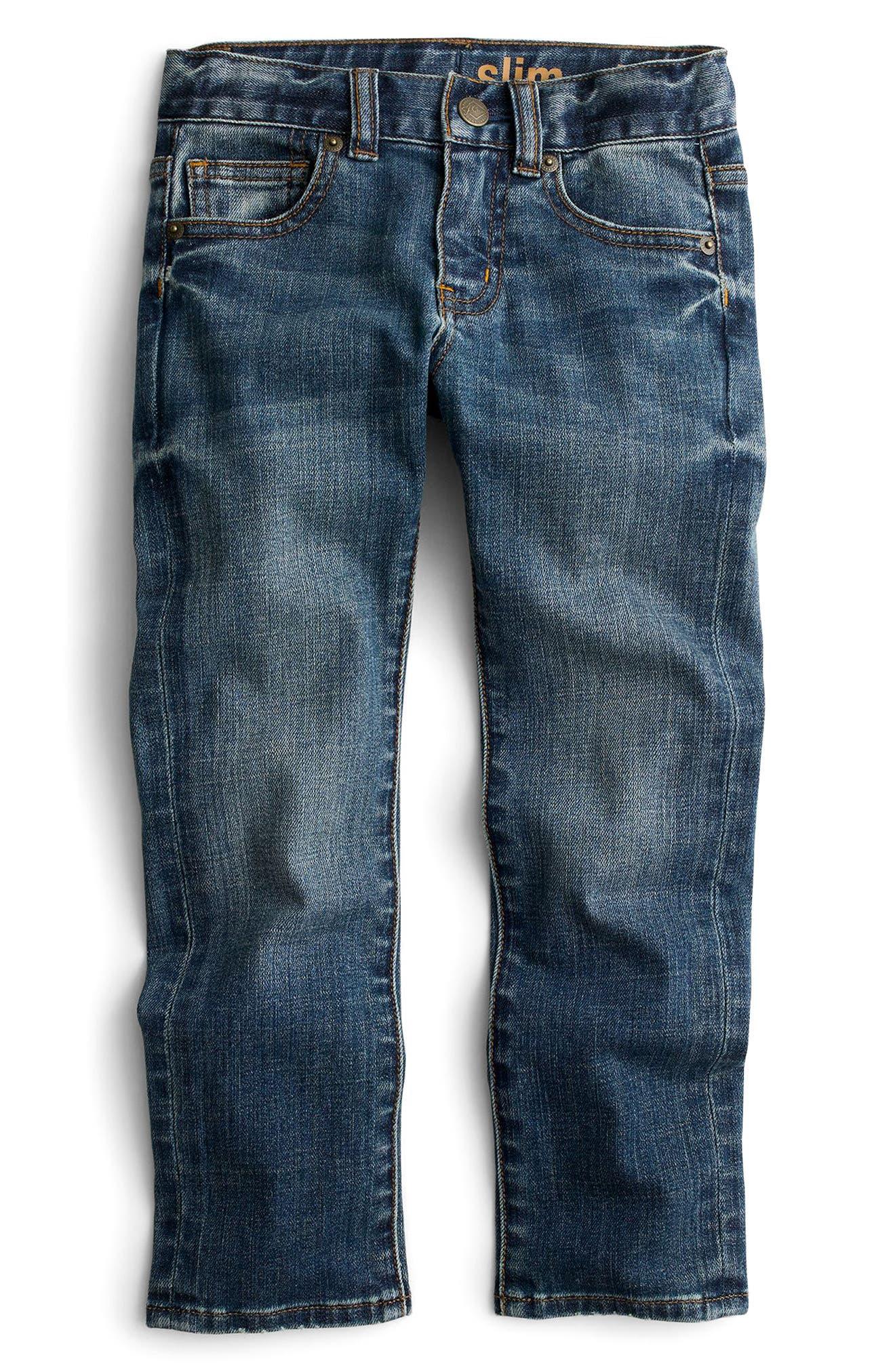 Slim Fit Rugged Wash Jeans,                             Main thumbnail 1, color,                             Rugged Wash